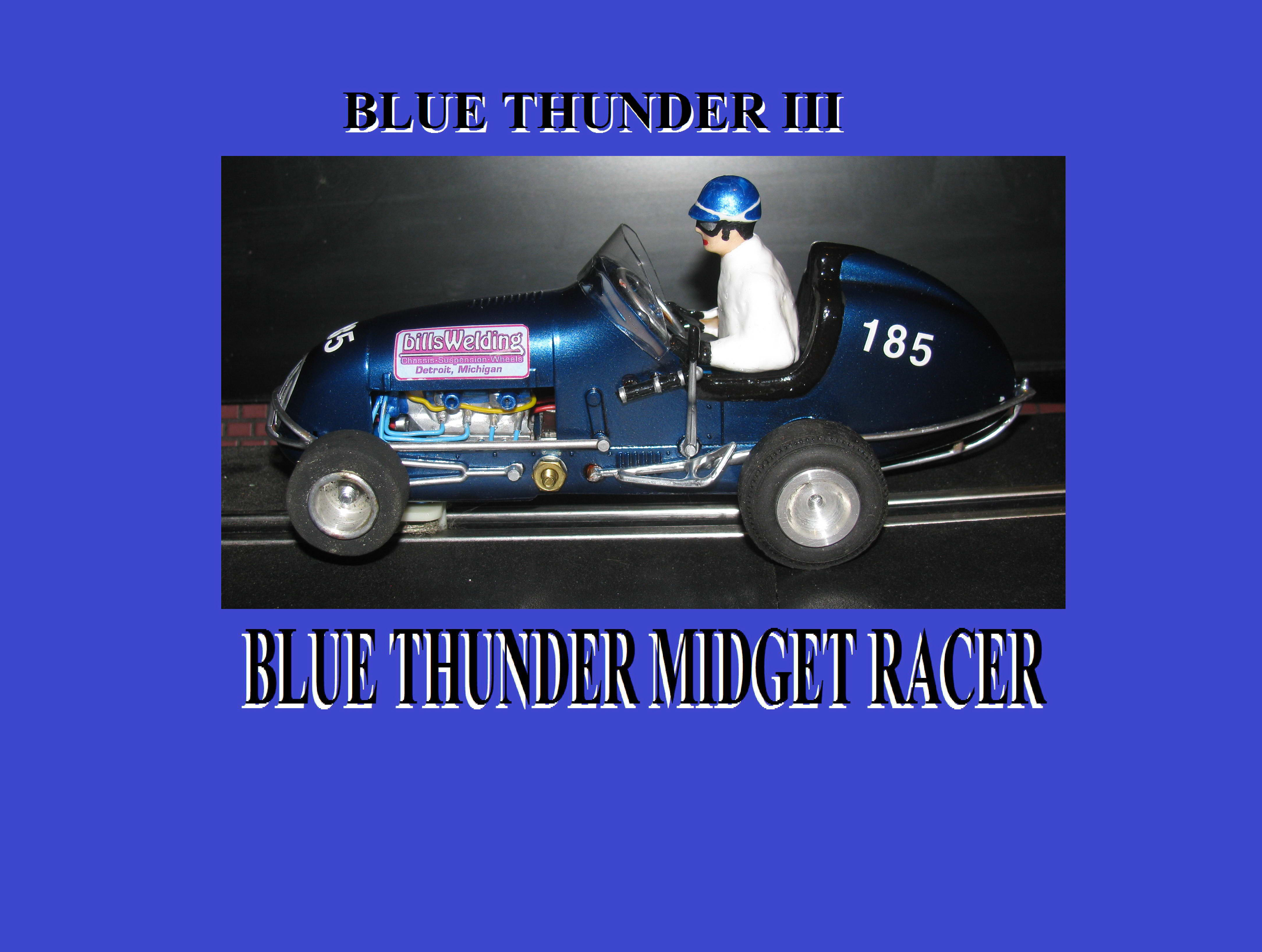 *SOLD* Midget Racer Blue Thunder III Monogram Racing Special Car 185
