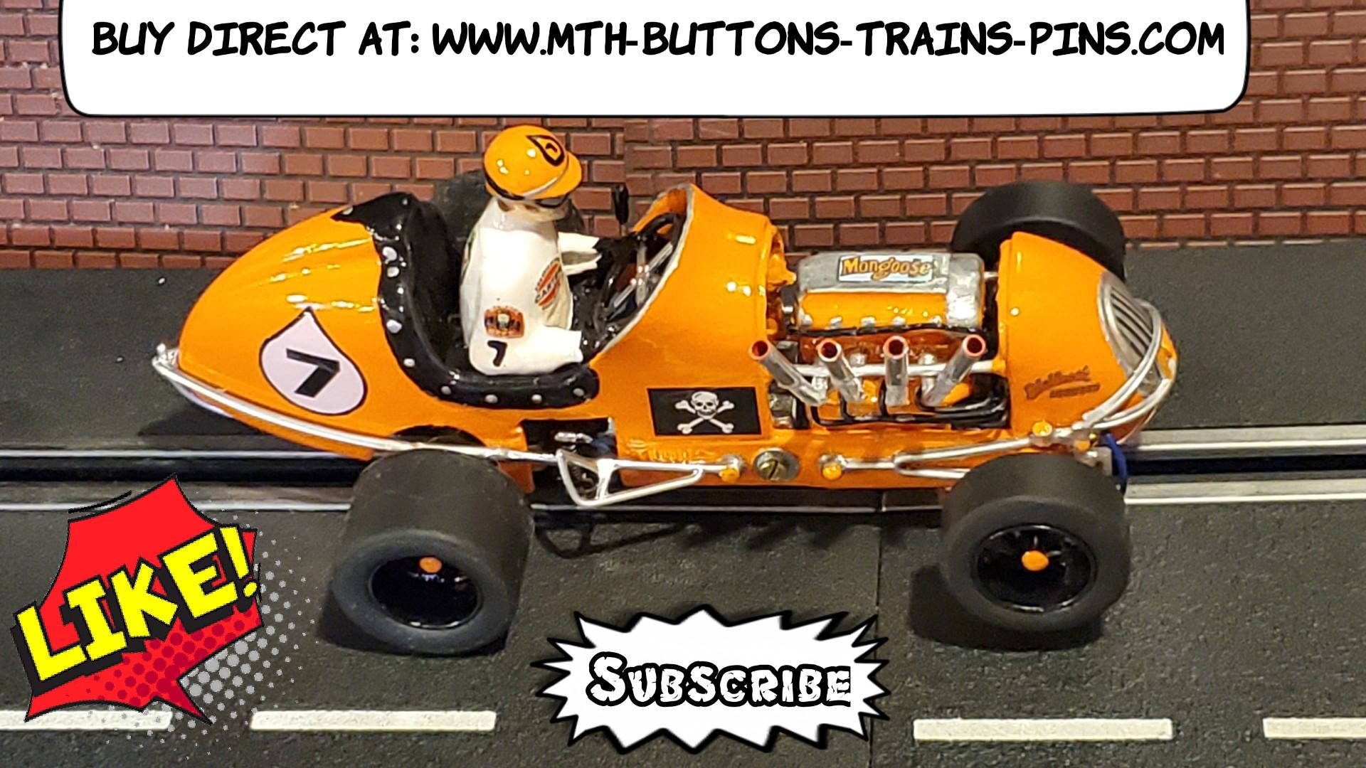 SALE *Save $$ vs. my Ebay Store * Kurtis Midget Mongoose Racing Special Slot Car 1/24 Scale – Car #7
