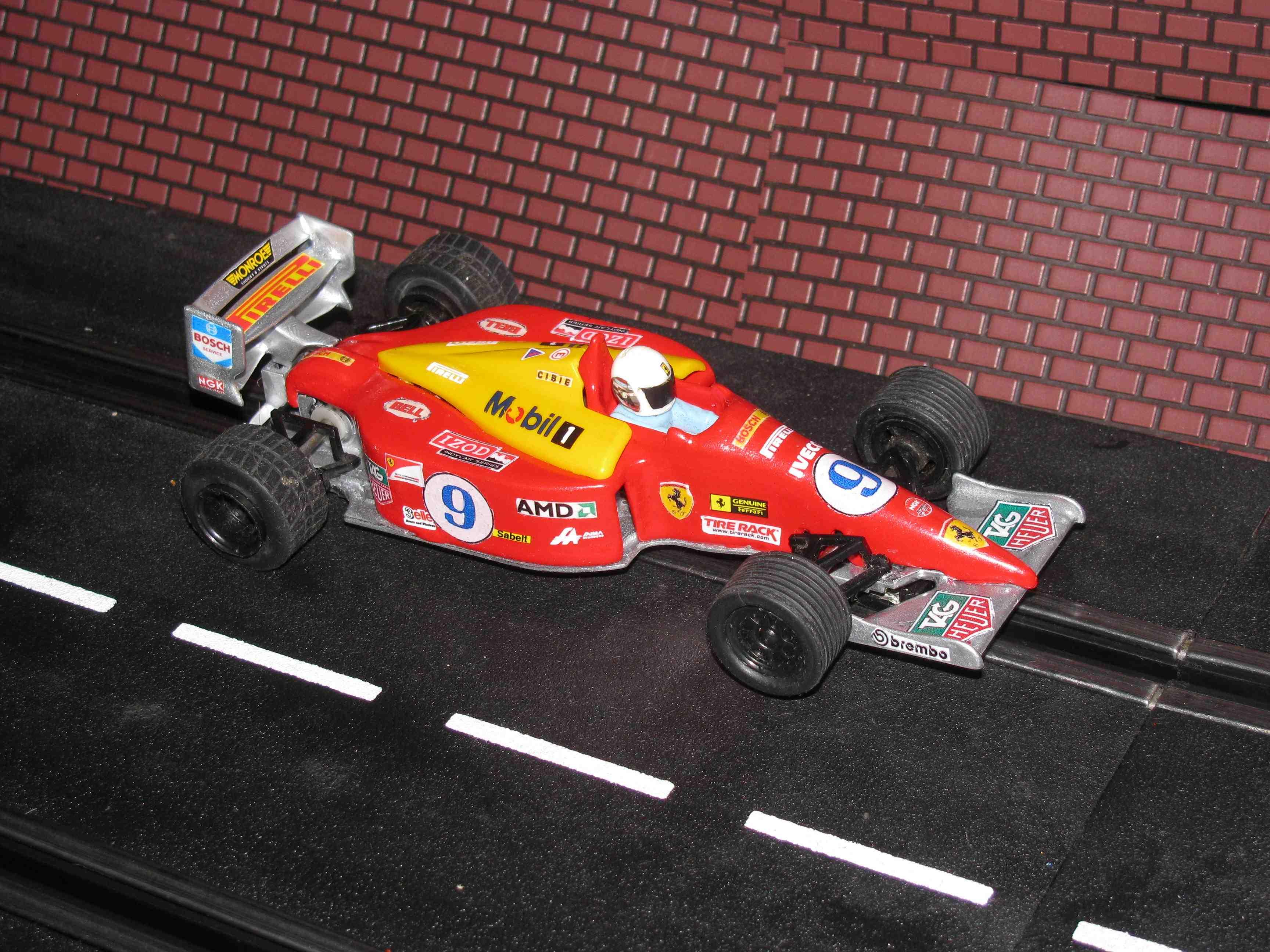 * SOLD * Scalextric Formula One Ferrari Slot Car – Red - Car#9 - 1/32 Scale