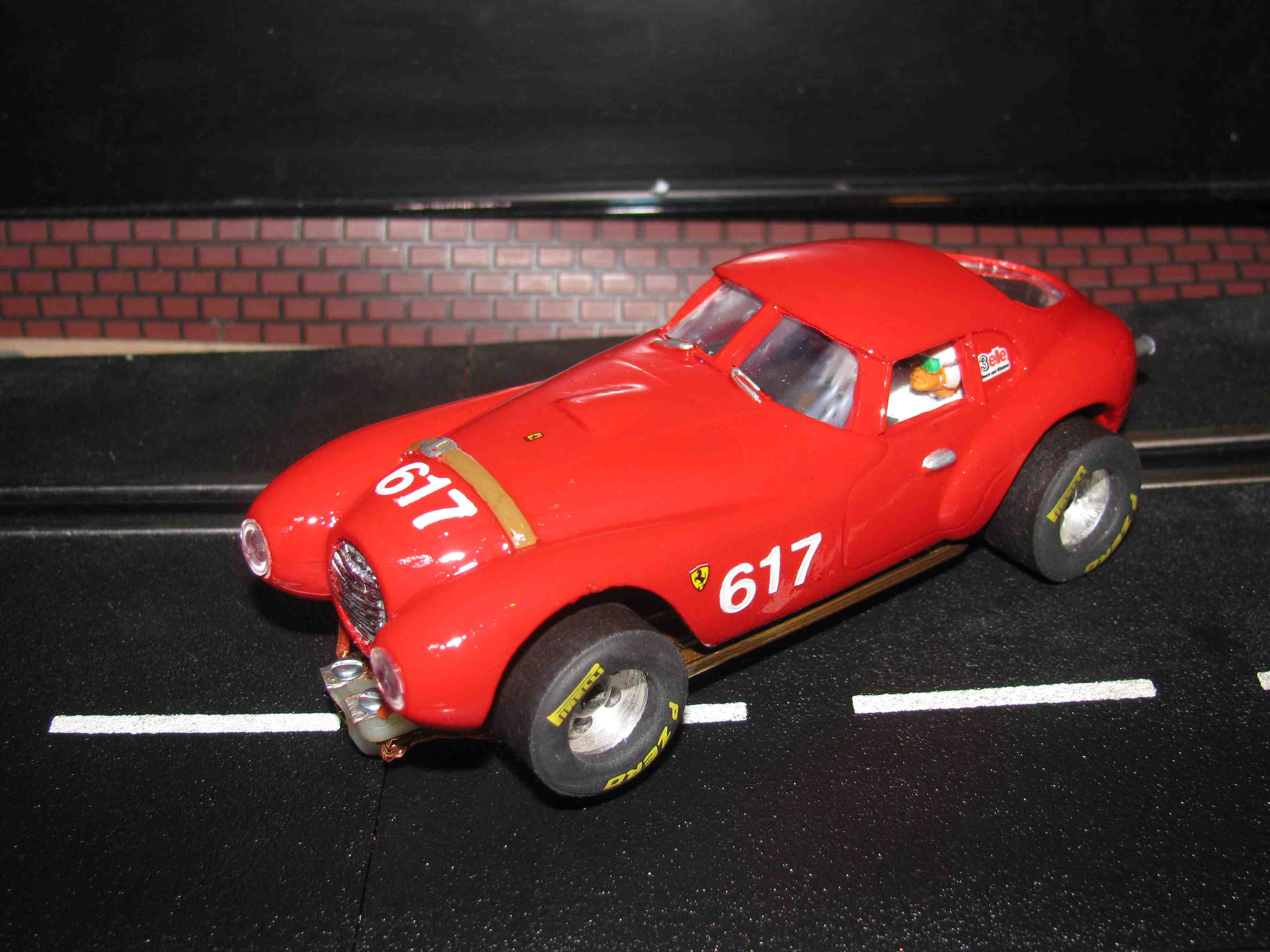 * SOLD * Rare 1950 Ferrari 166 MM Uovo Slot Car 1/32 Scale – Car #617 – Corsa Red
