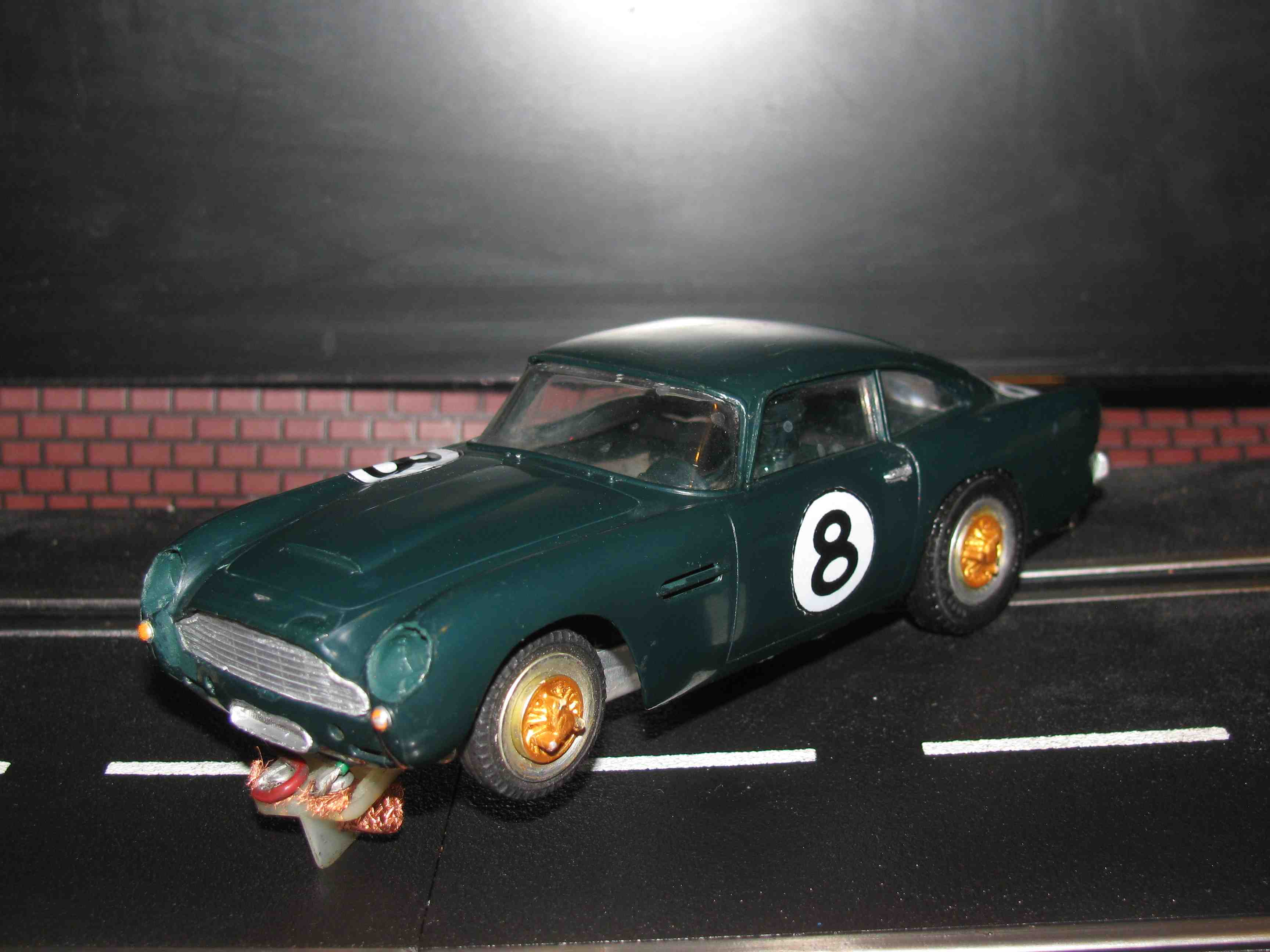 * SOLD * Vintage Revell 1964 Aston Martin DB5 Slot Car 1/32 Scale in Green