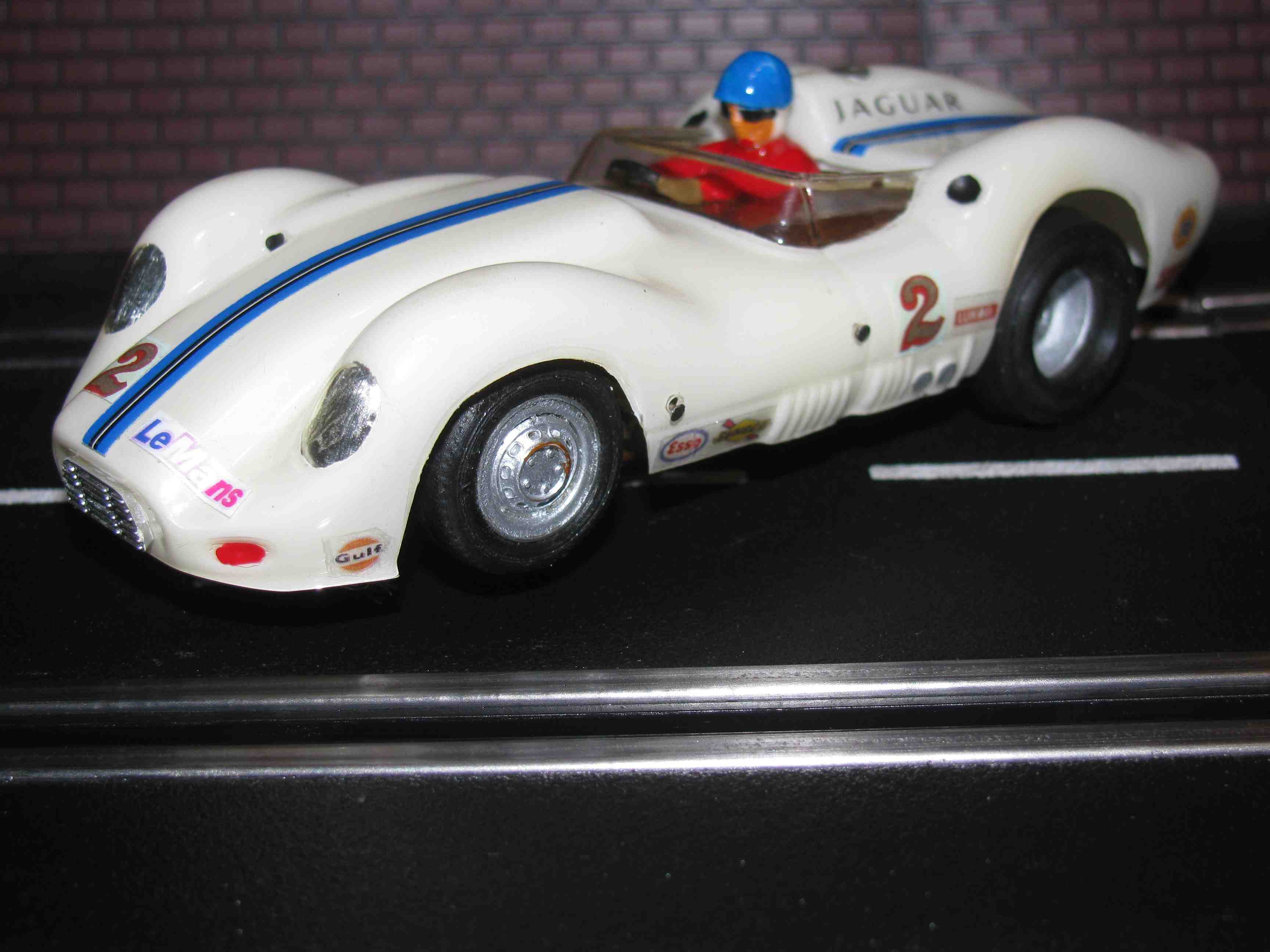 *** SOLD*** 1958 Lister Knobbly powered by Jaguar 60th Anniversary Edition Slot Car 1/32 Scale