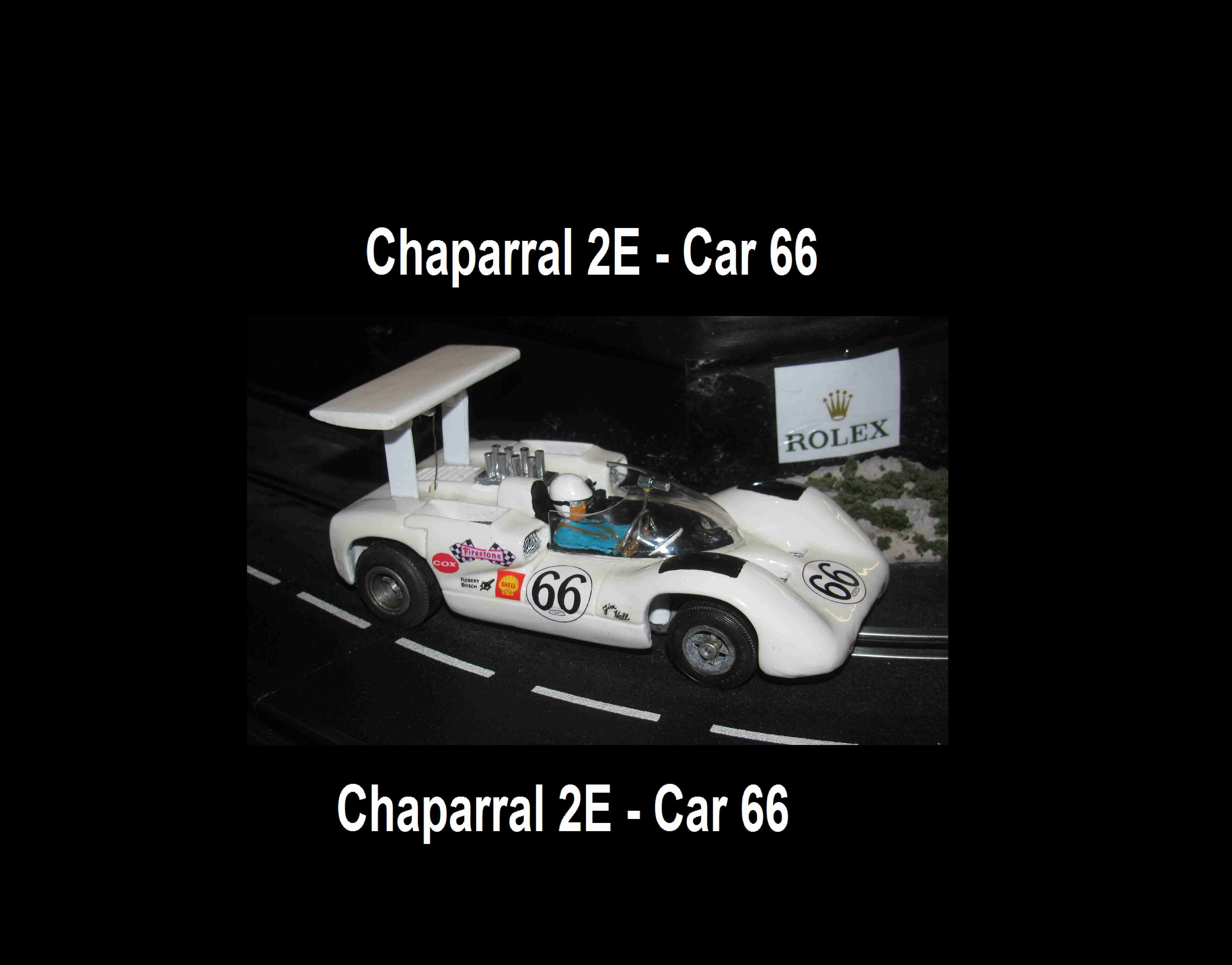 * SOLD * Vintage COX Jim Hall Chaparral 2E slot car 1/24 Scale *SALE PRICE*