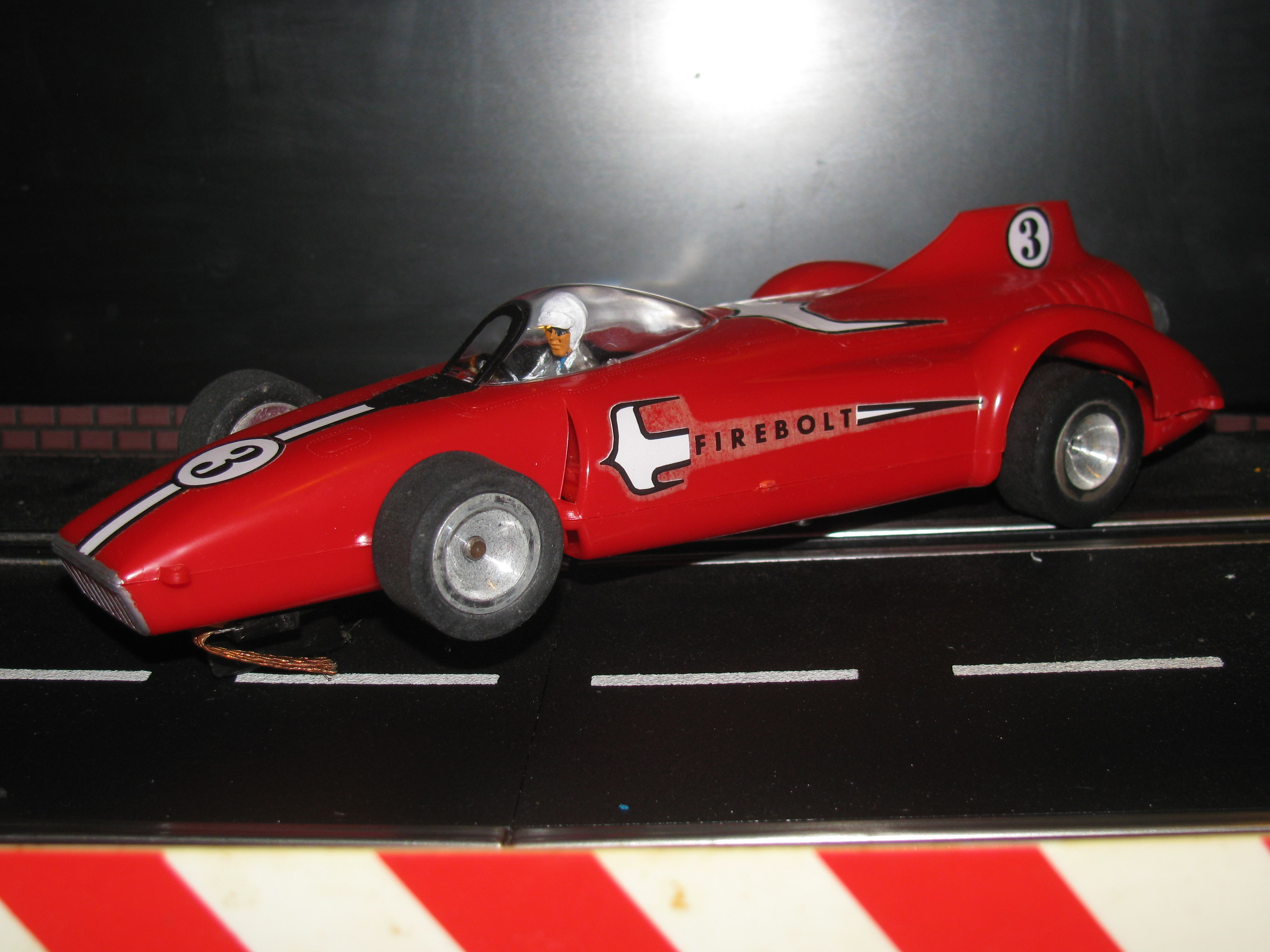 "*SOLD* Vintage 1959 Monogram the firebolt ""Jet Powered"" Slot Car in 1/24 Scale – Car 3"