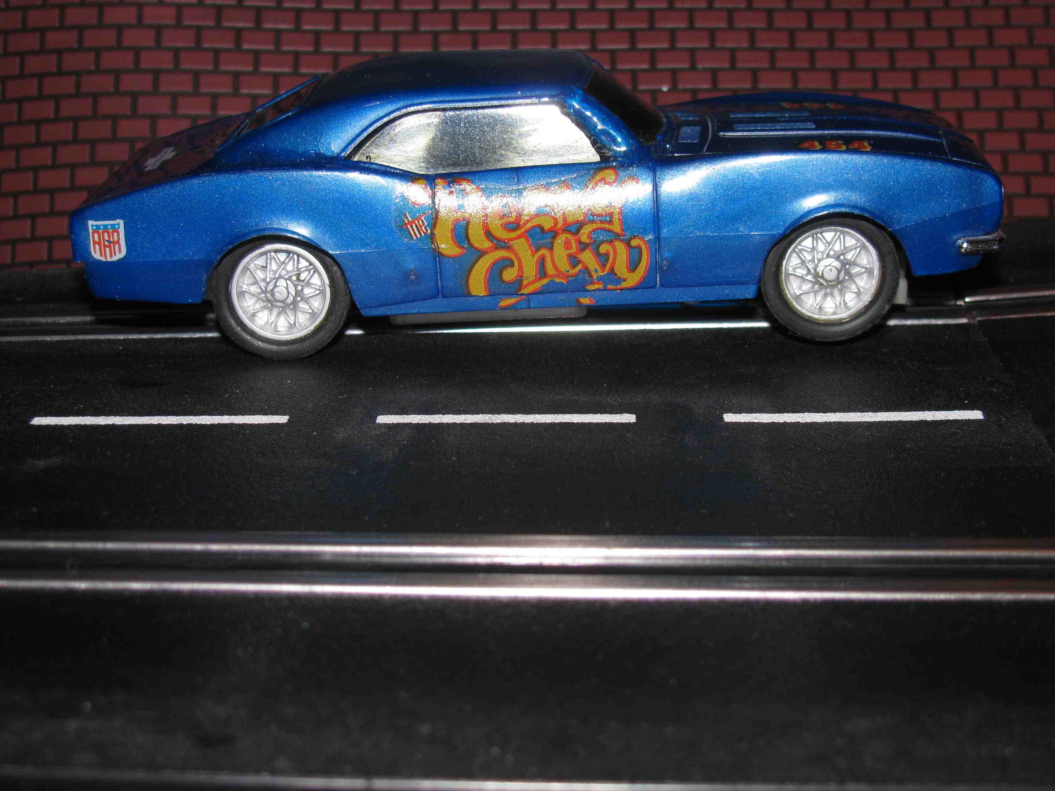 "* SOLD * Eldon 1966 Camaro Slot Car – Blue ""Heavy Chevy"" Slot Car - 1/32 Scale"