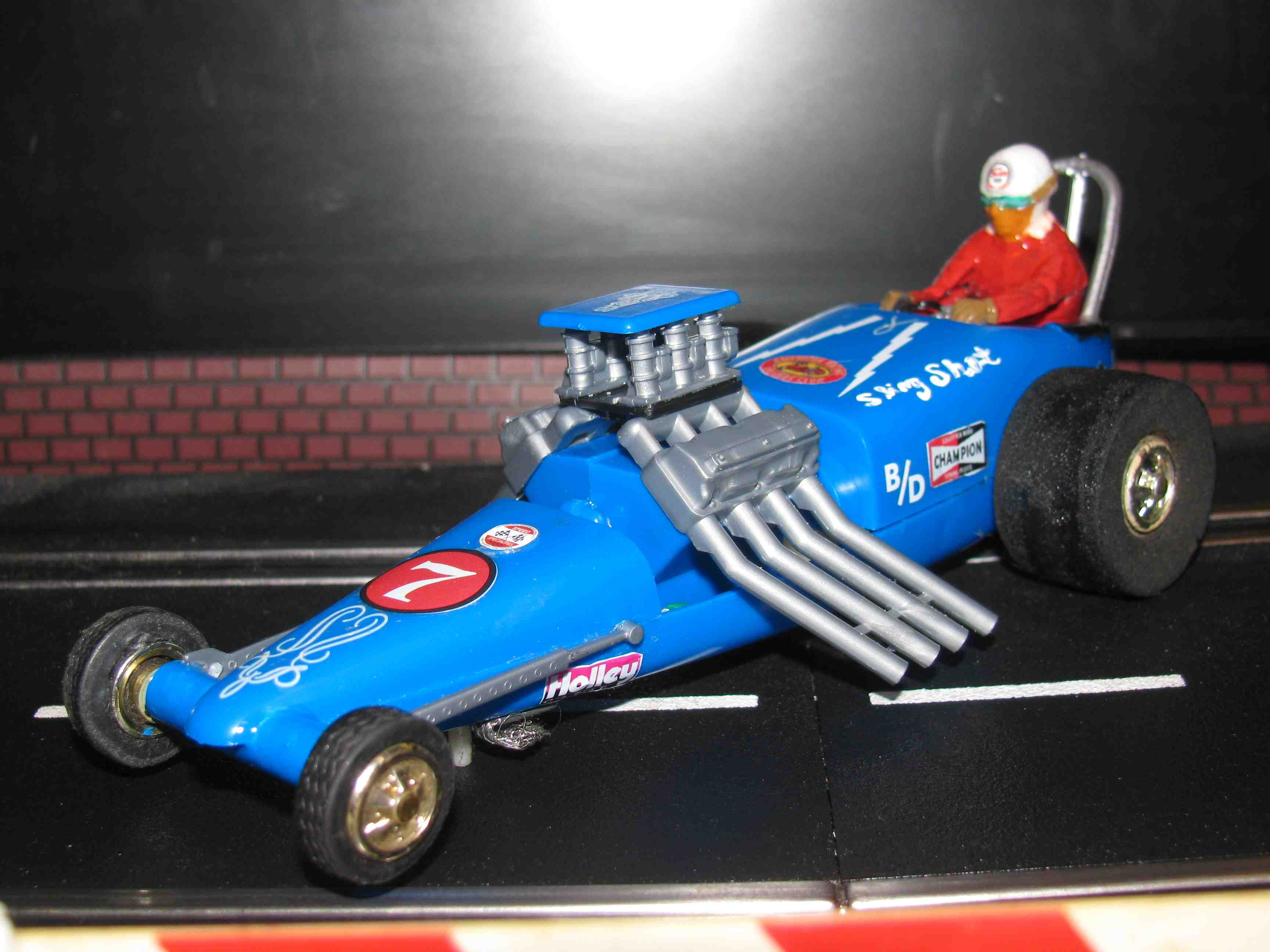 * SOLD * Vintage Revell Monogram Sling Shot Dragster Slot Car 1/32 – 1/24 Scale - Car #7