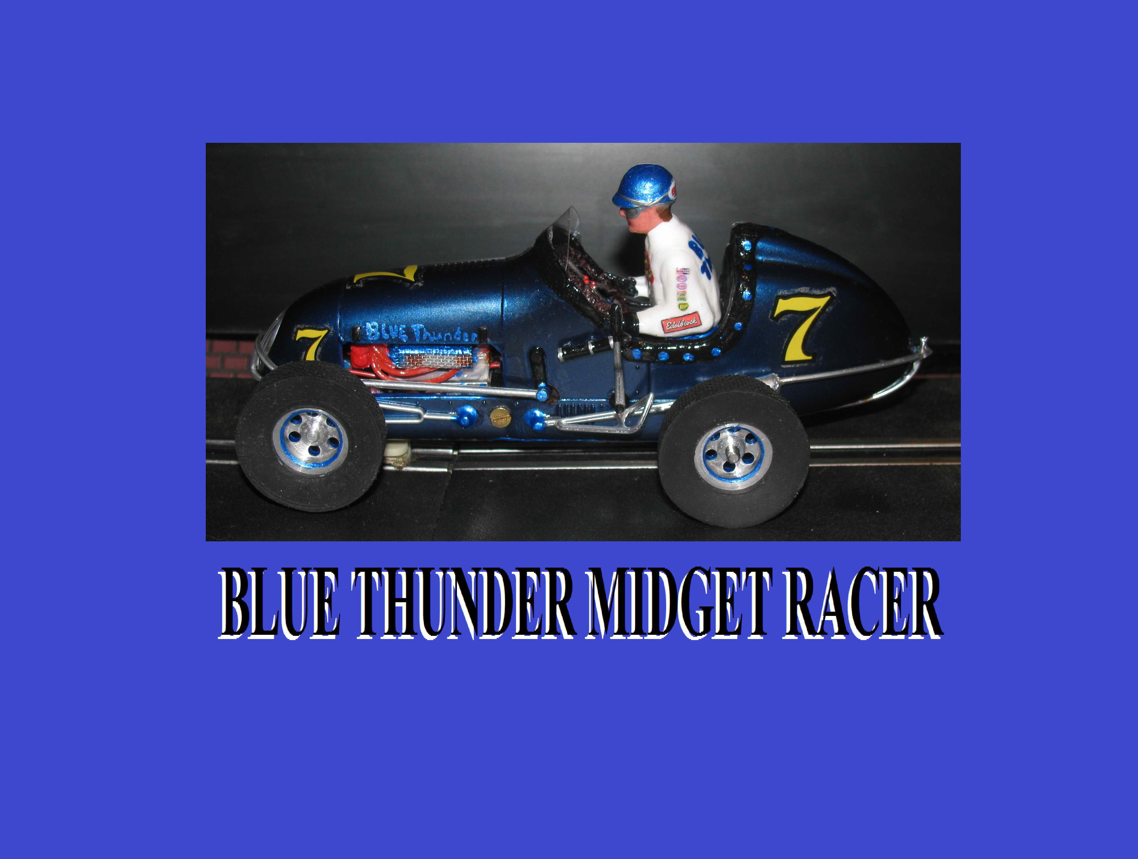 *SOLD* Midget Racer Blue Thunder Monogram Racing Special – Slot Car