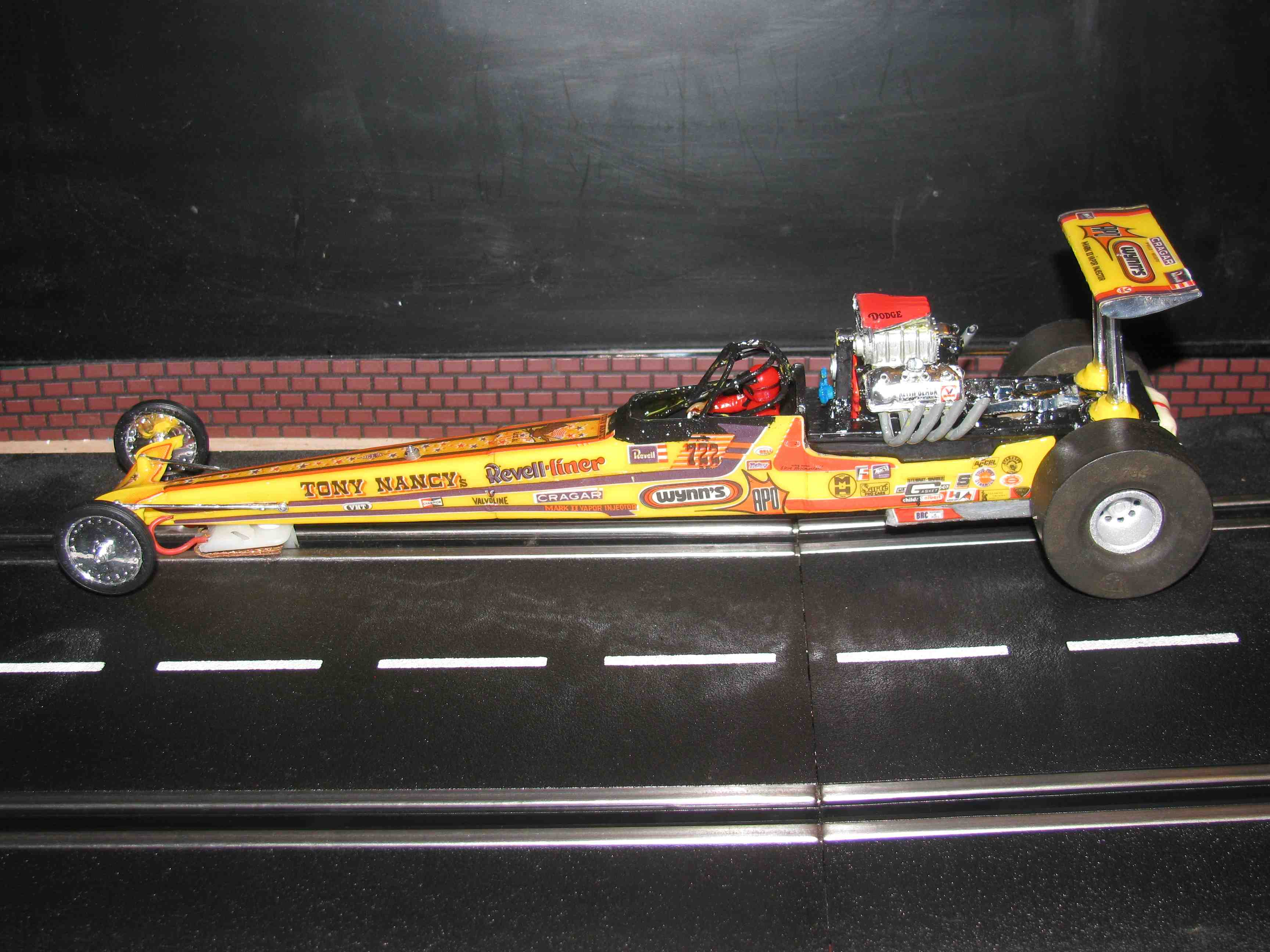 * SOLD * Vintage & Rare Classic Tony Nancy Wynns 722 Dragster Slot Car 1/24 Scale