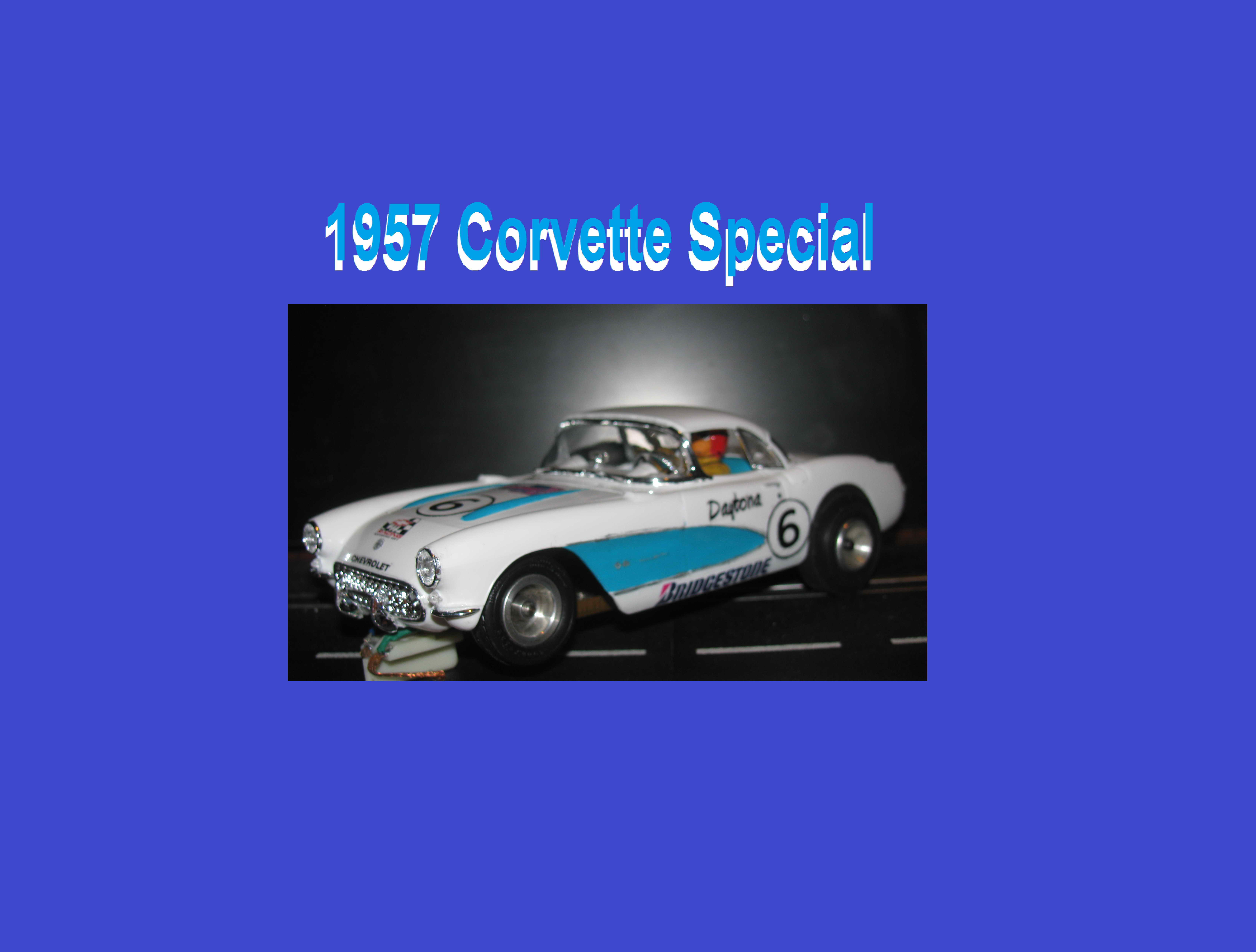 * SOLD * Vintage Monogram 1957 Corvette Hard Top Classic 1/24 Scale Slot Car