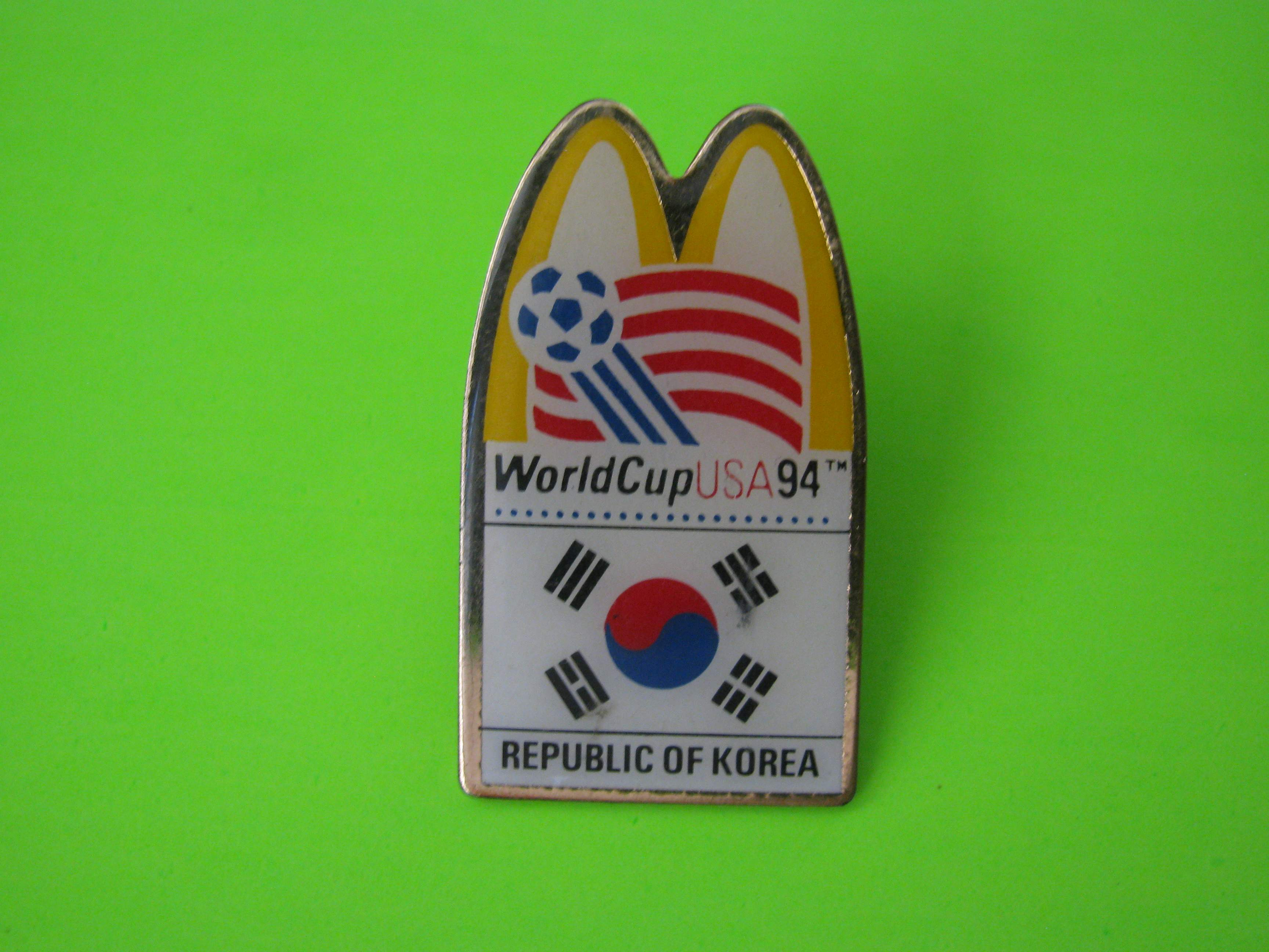 1994 World Cup USA McDonald's Team Republic of Korea Soccer Pin with Butterfly Clutch