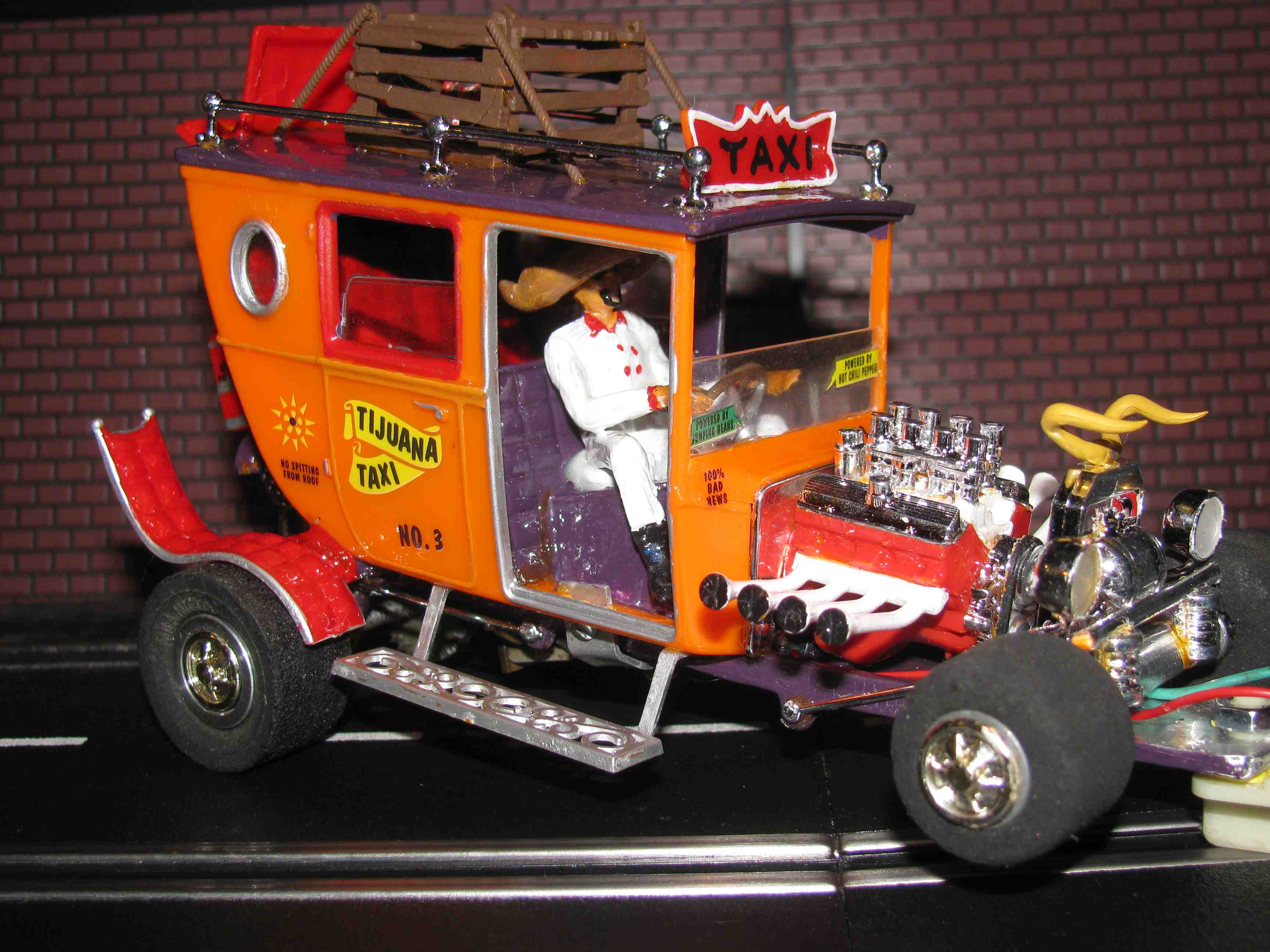 * SOLD * Monogram Tom Daniel Tijuana Taxi Slot Car 1/24 Scale