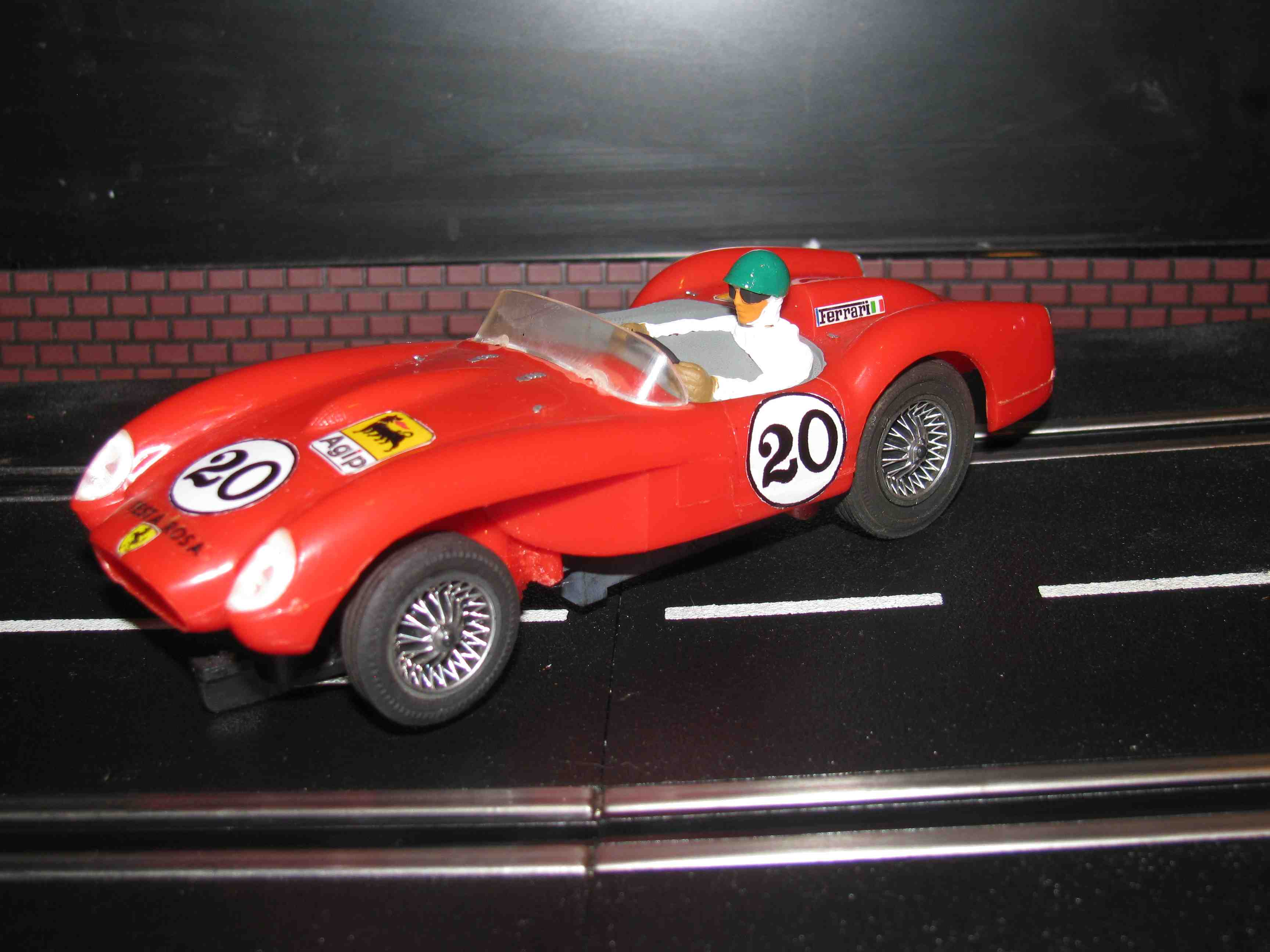 * SOLD * Vintage Eldon Ferrari Testa Rosa Slot Car 1/32 Scale