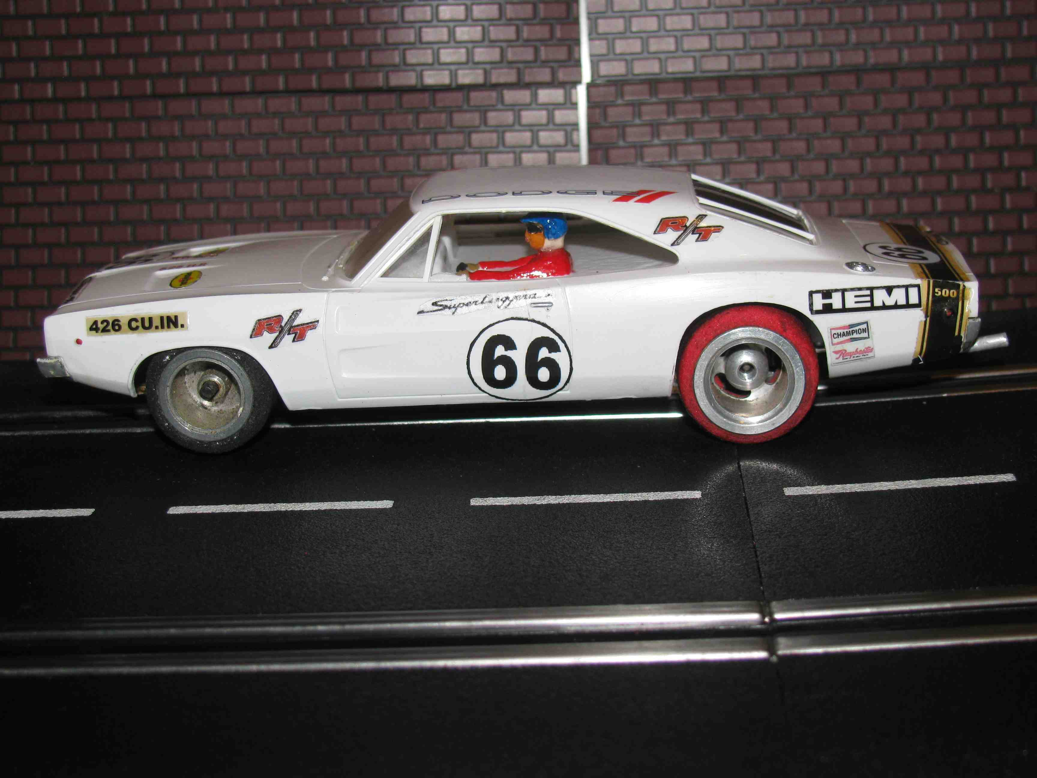 * SOLD * 1962 Dodge Charger RT 500 Slot Car 1/32 Scale Car #66