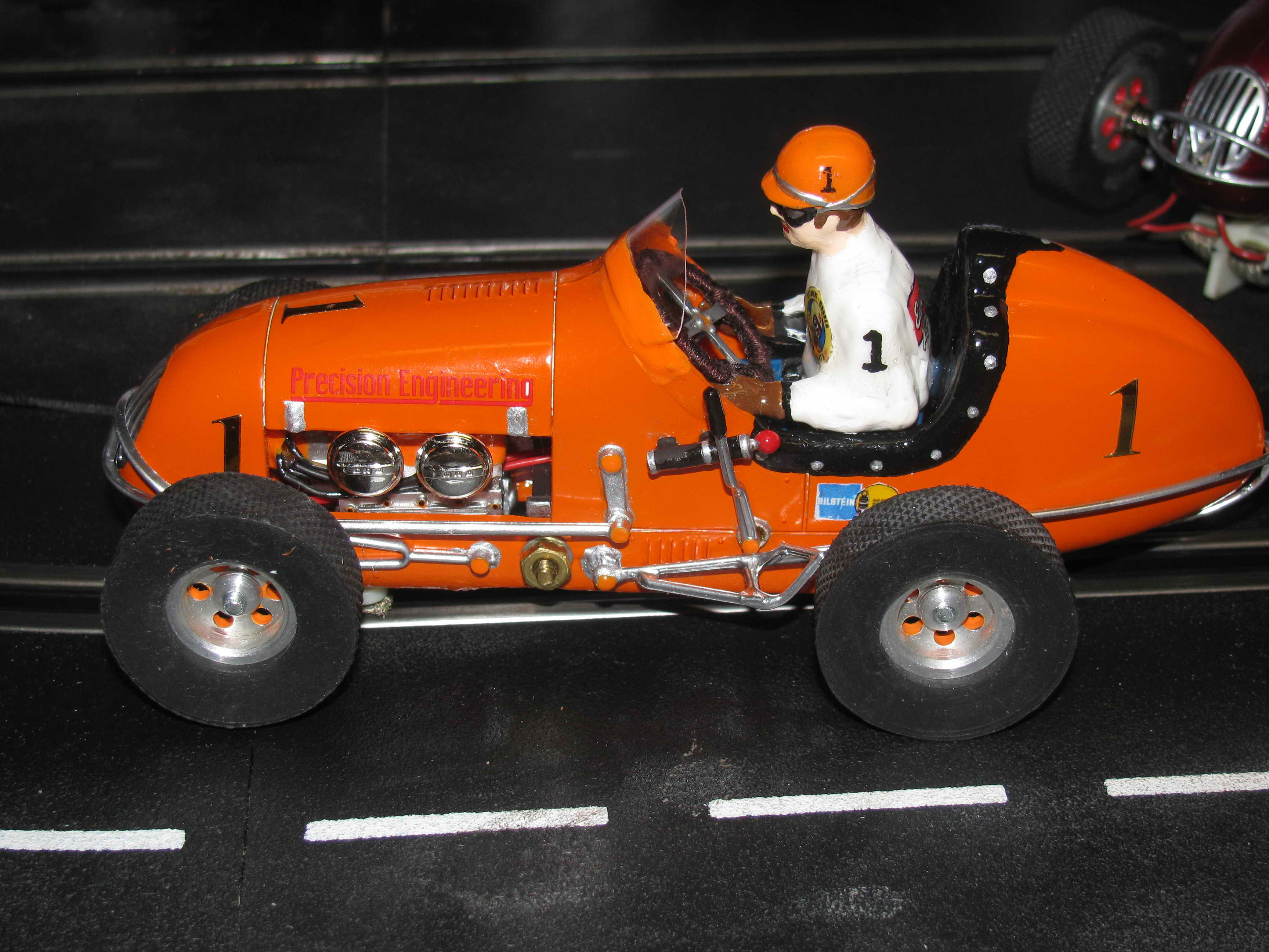 * SOLD * Monogram Midget Kurtis Outrageous Orange II Racing Special Slot Car 1