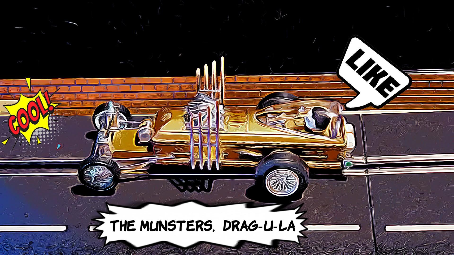 * SALE *The Munster's' Grandpa's DRAG-U-LA Dragster Slot Car 1/24 Scale