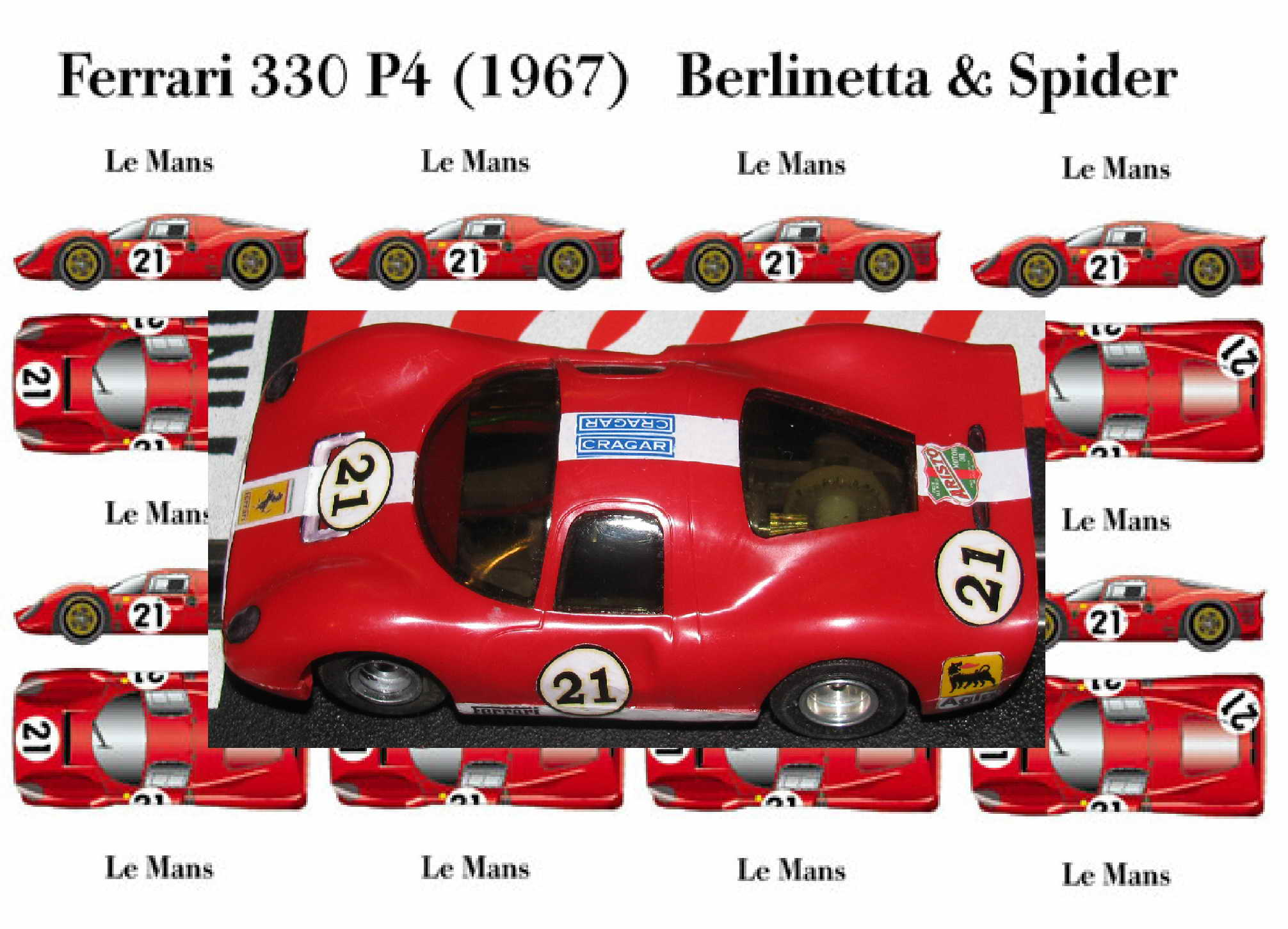 * SOLD * 1967 Ferrari 330 P4 L116 Le Mans Car #21
