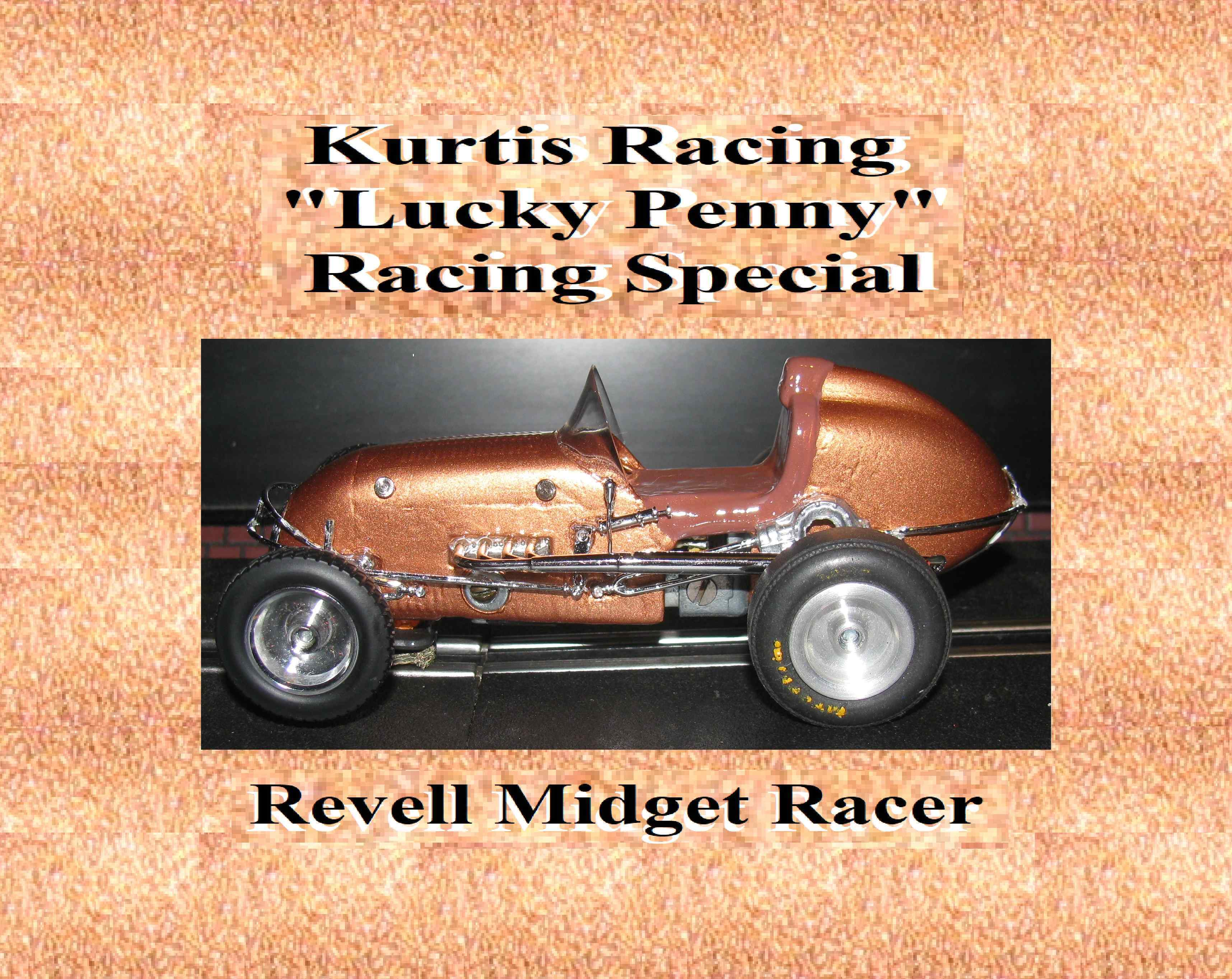 "*SOLD* * SPECIAL EASTER PRICE FOR CHARLES E.* Revell Midget Racer ""Lucky Penny"" Racing Special Slot Car 1:32 Scale"