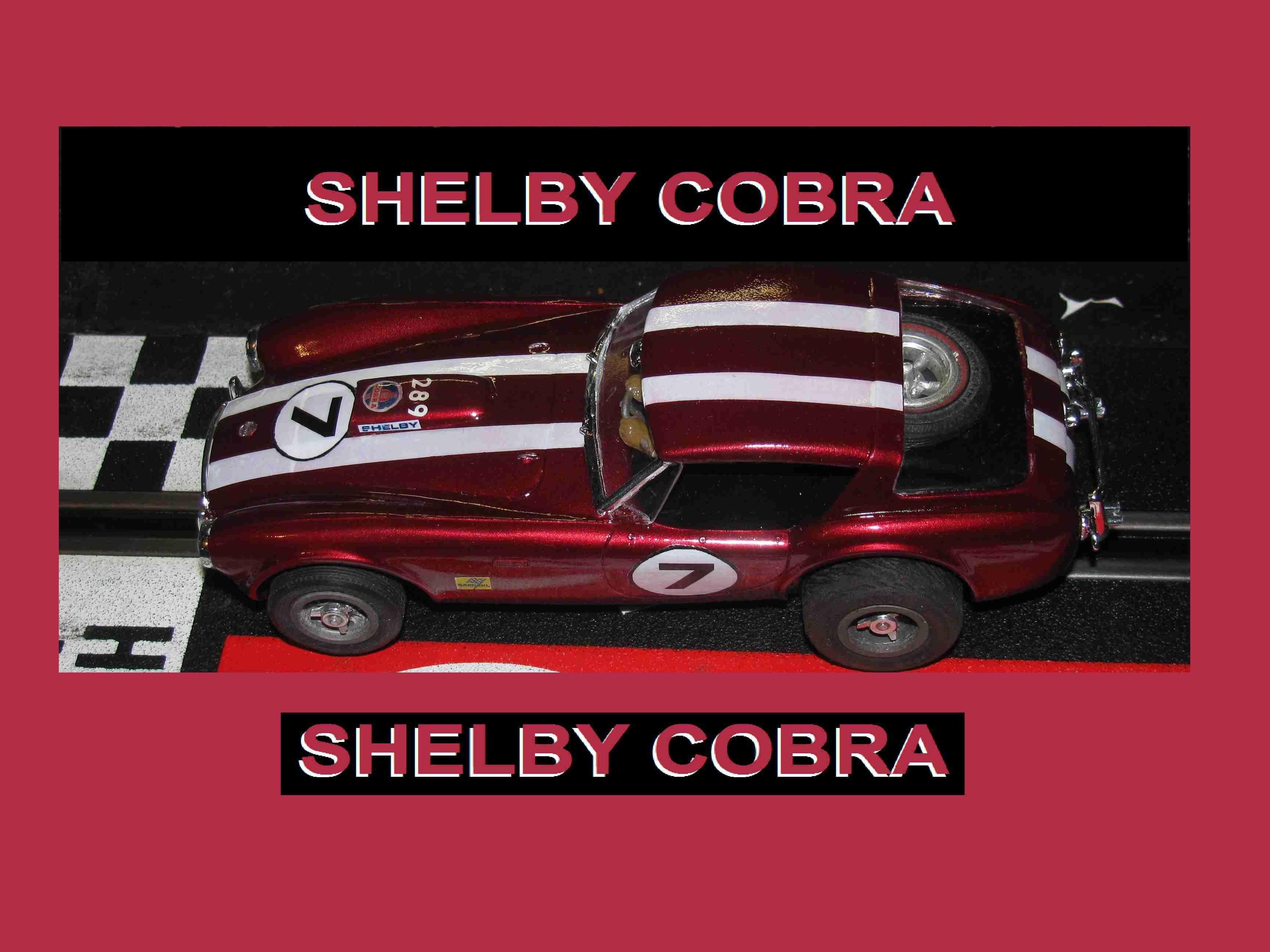* SOLD * Vintage 1960's Shelby Cobra Daytona Coupe 289 Slot Car #7