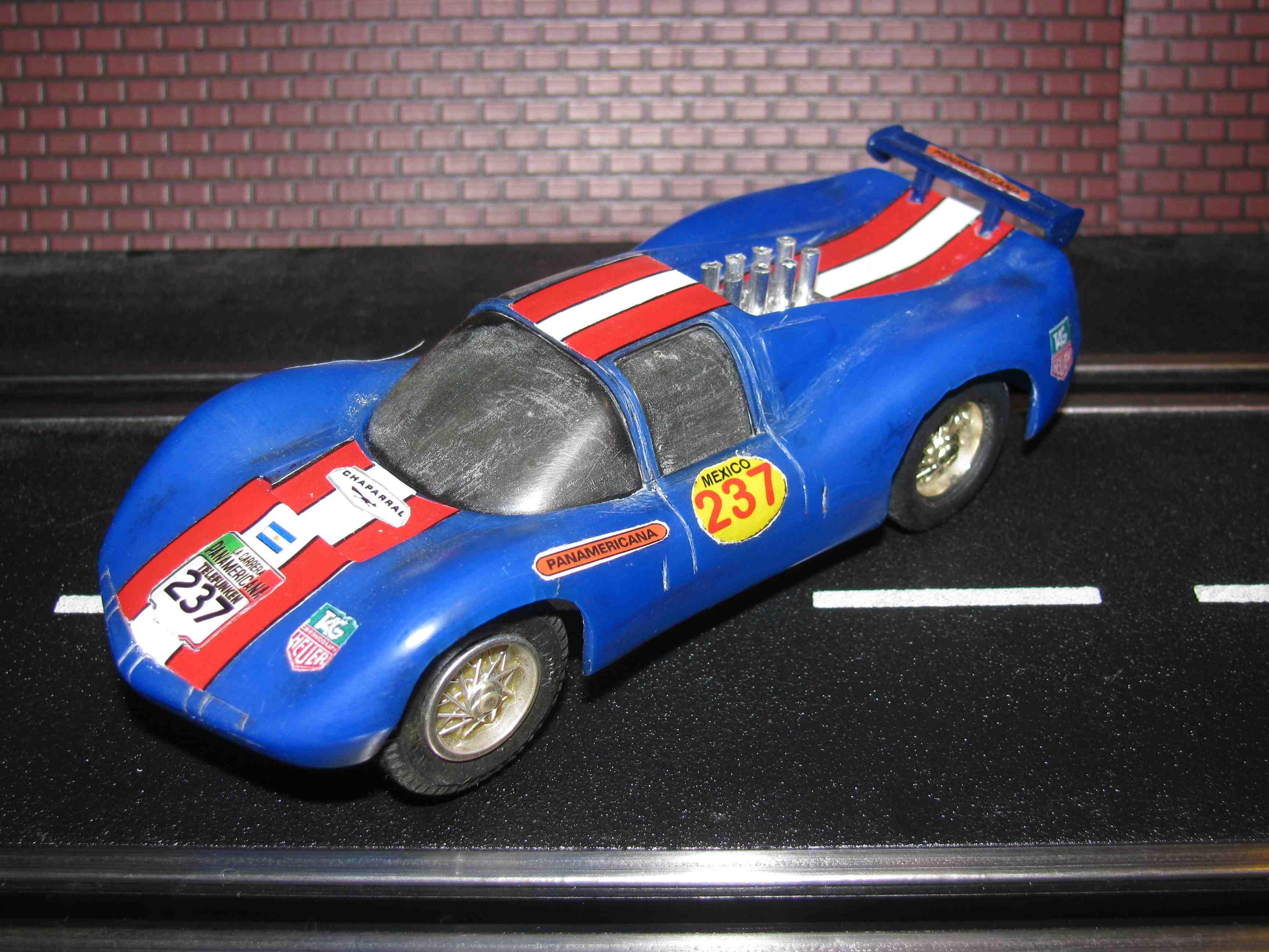 * SOLD * Eldon Chaparral Slot Car 1/32 Scale, Blue, Car 237