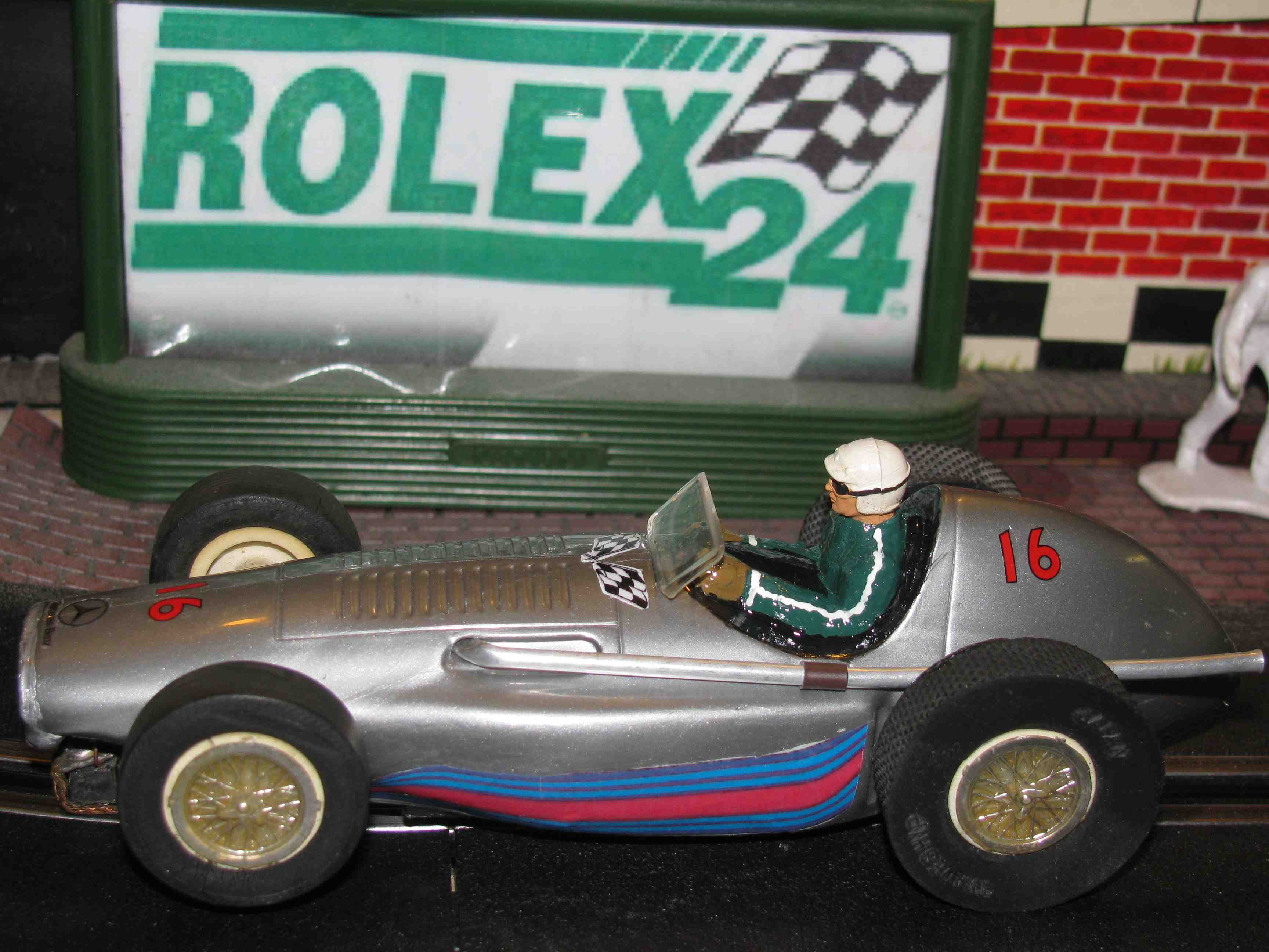 * SOLD * Vintage 1937 Mercedes Benz W125 Grand Prix Racer Slot Car 1/32 Scale – Hermann Lang, Richard Seaman, Rudolf Caracciola