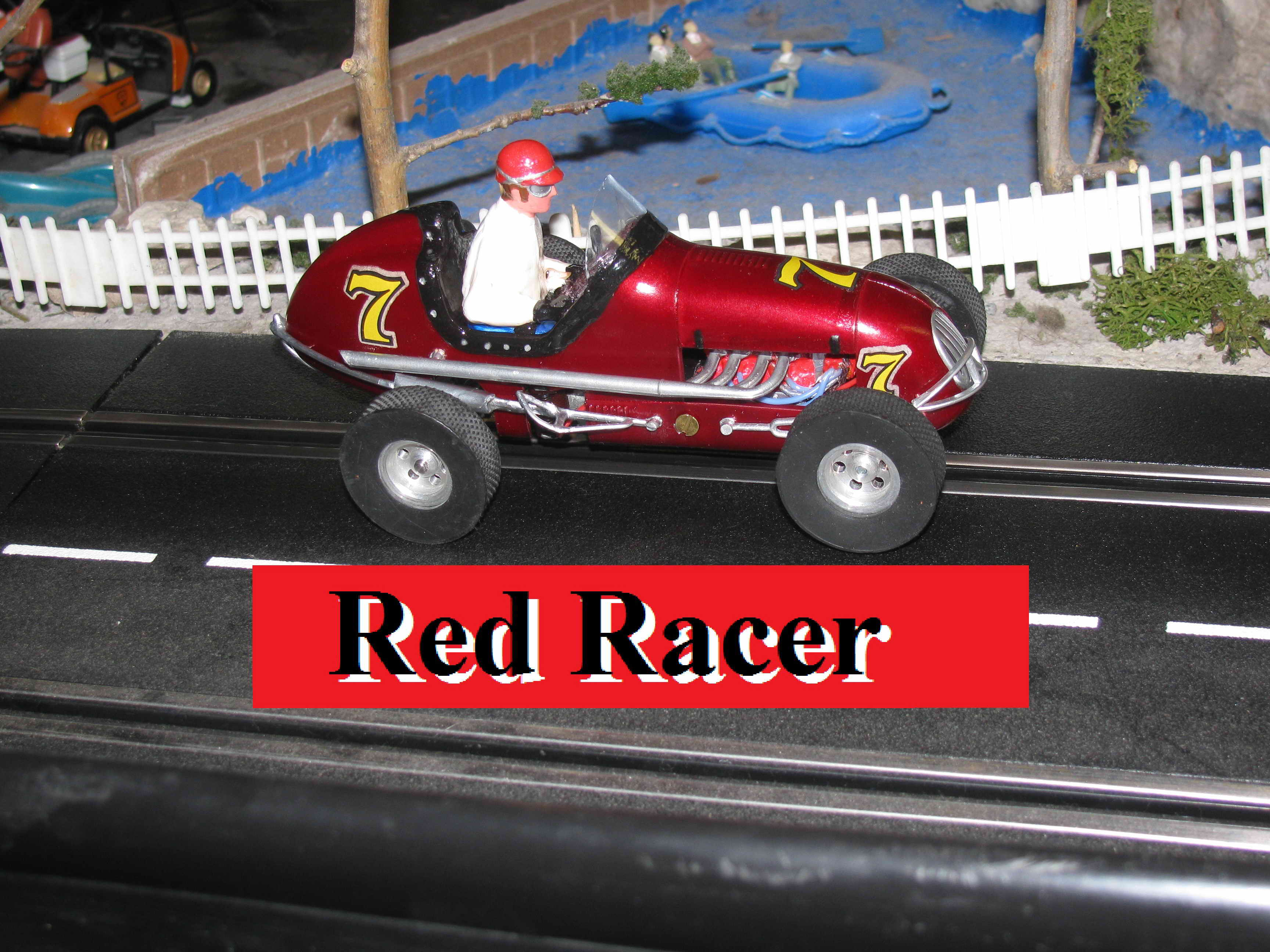 *SOLD* Monogram Midget Racer Special Red Racer Slot Car