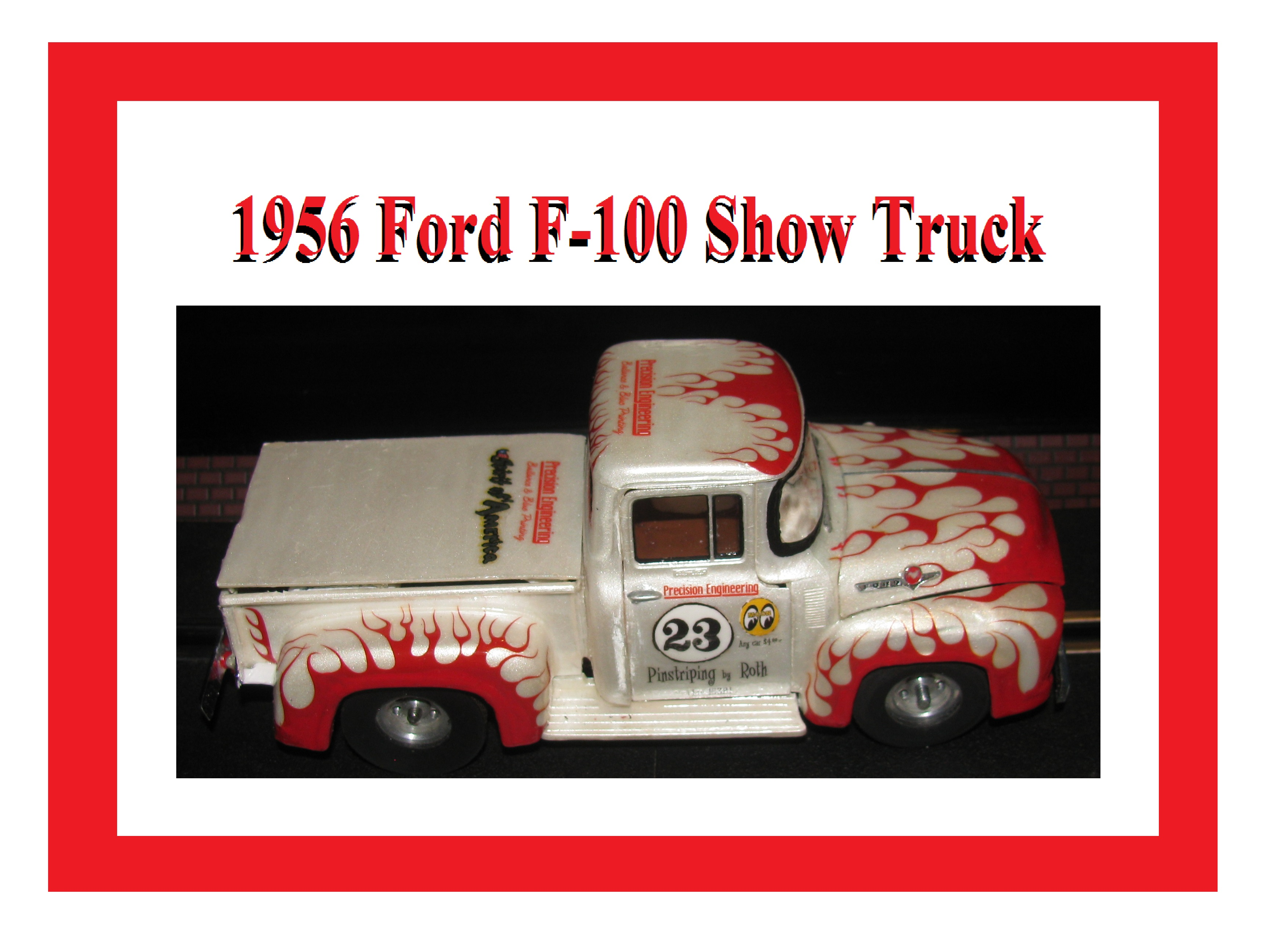 * Super Sale * Revell 1956 Ford F-100 Show Truck in Pearl White with Unique Livery - #23 – 1:24 Scale