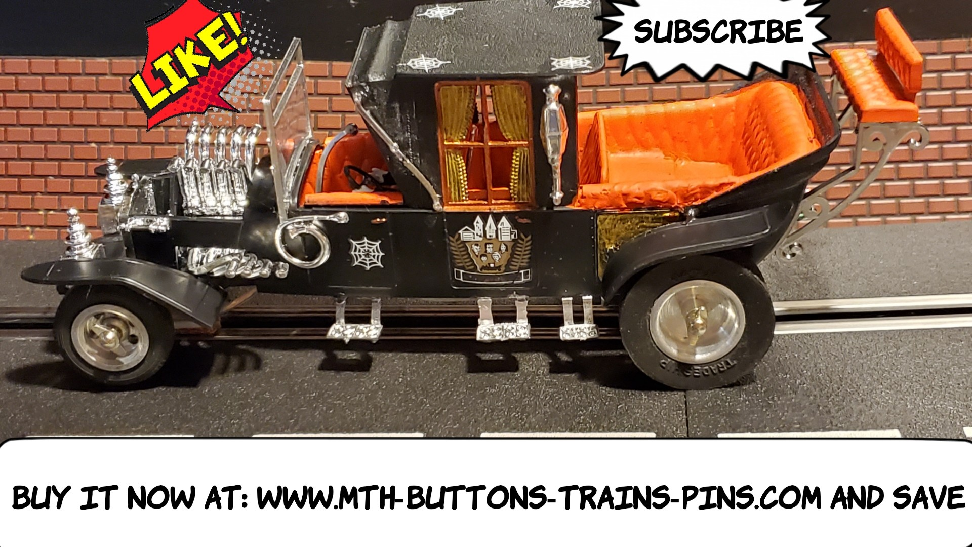 The Munster Koach Slot Car 1/24 Scale with Driver