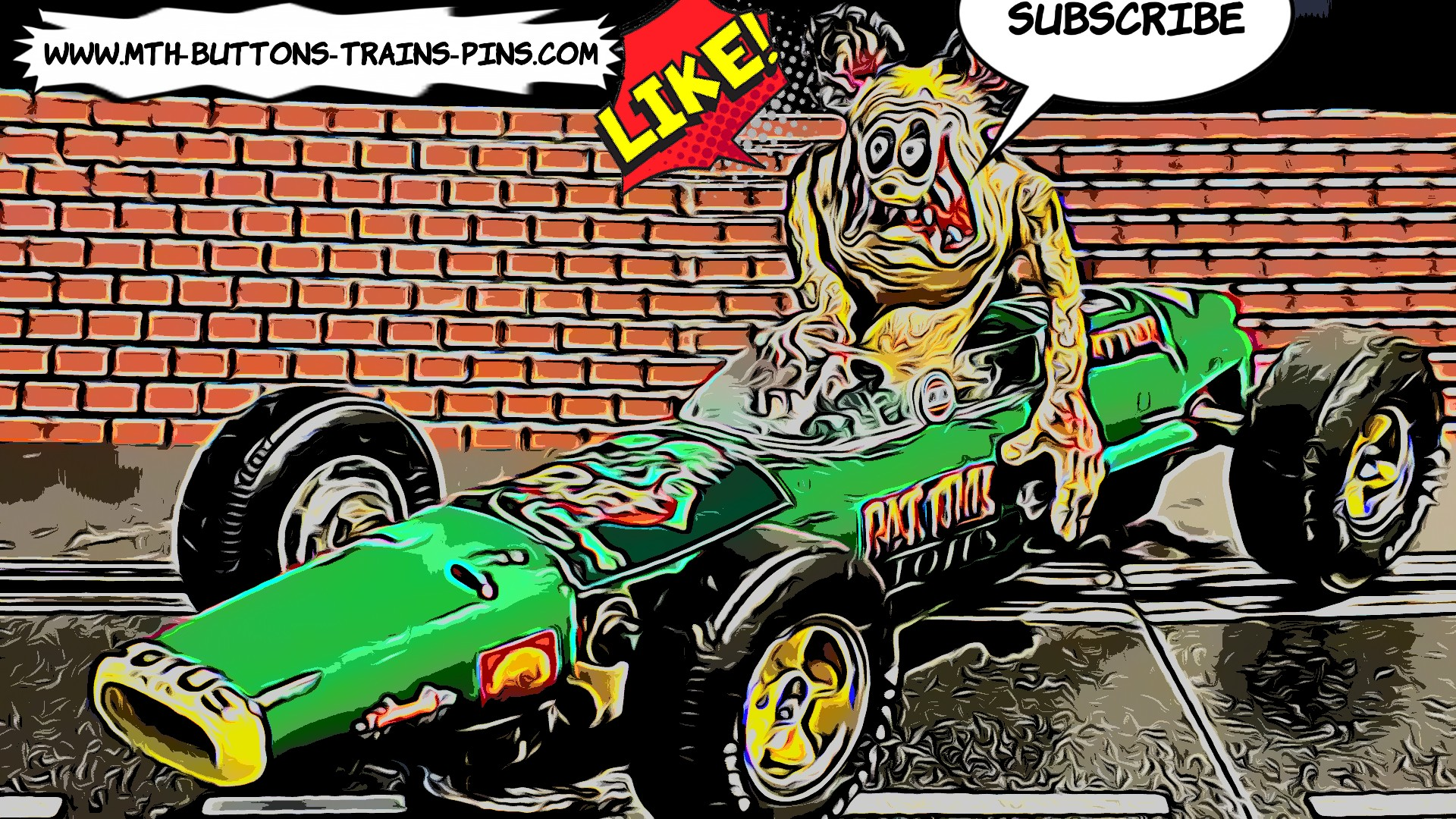 * SOLD * 1960s Lotus Rat Fink F1Racing Special Slot Car 1/24 Scale