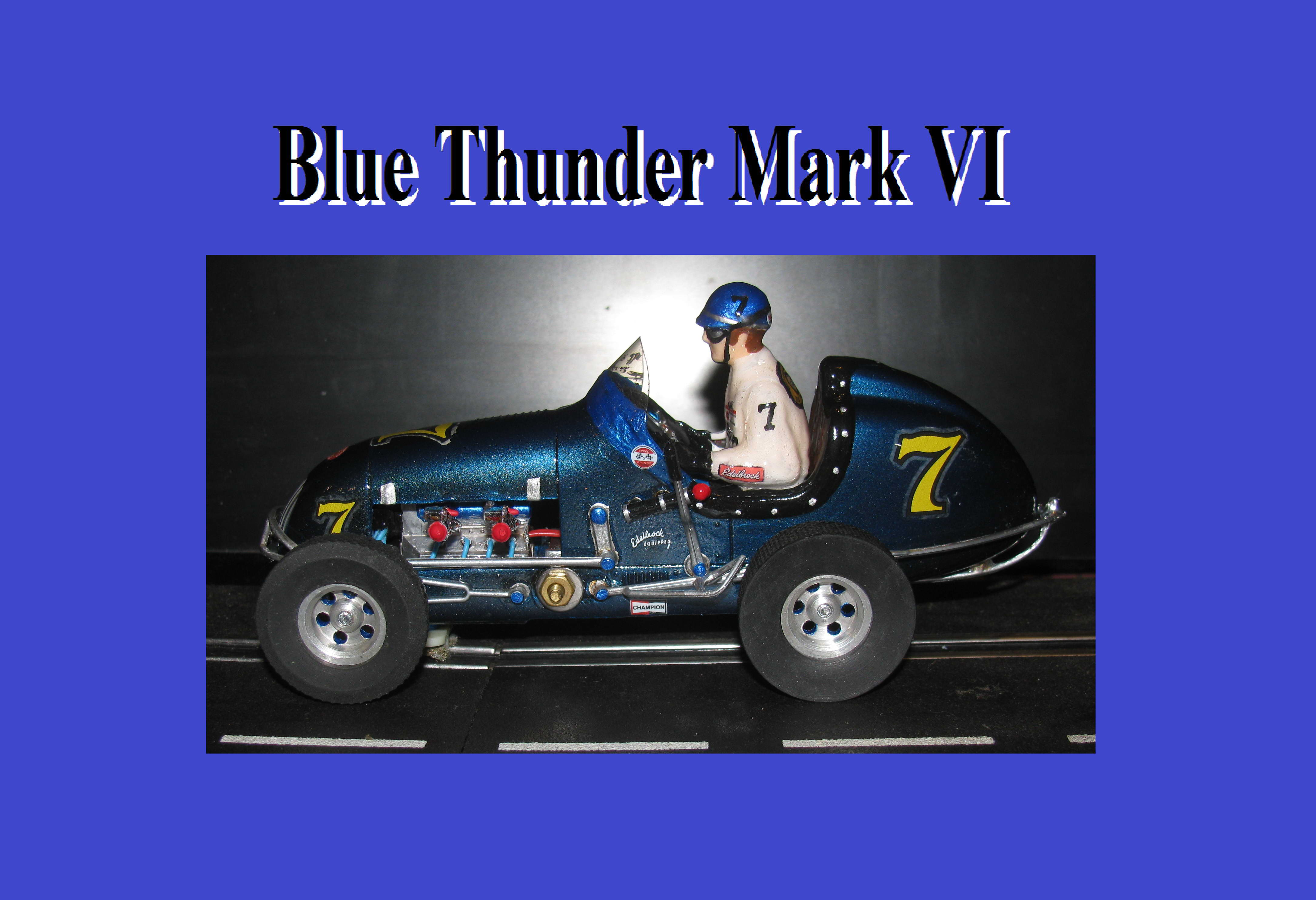 *SOLD* * SALE * Monogram Midget Racing Special Blue Thunder VI Slot Car