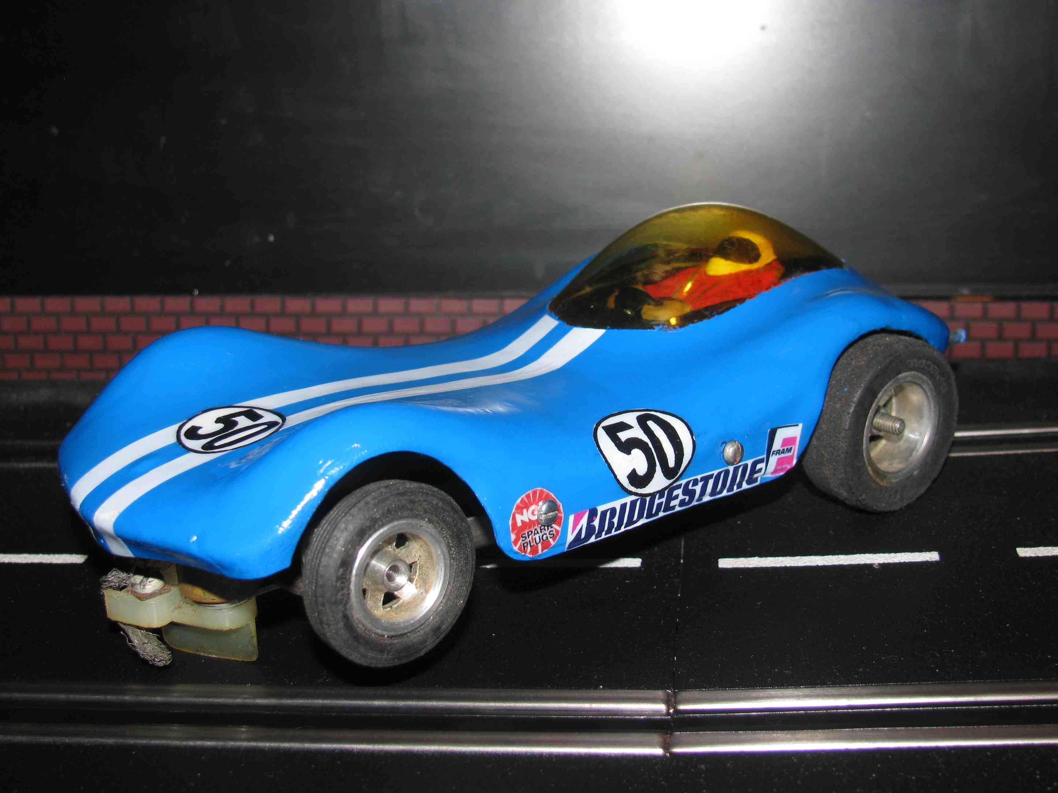 Vintage Blue Manta Ray Slot Car 1/32-1/24 Scale – Car 50