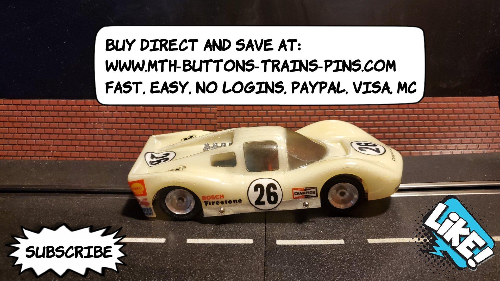 COX Chaparral 2D Coupe Slot Car Jim Hall Prototype LeMans Racer 1/24 Scale