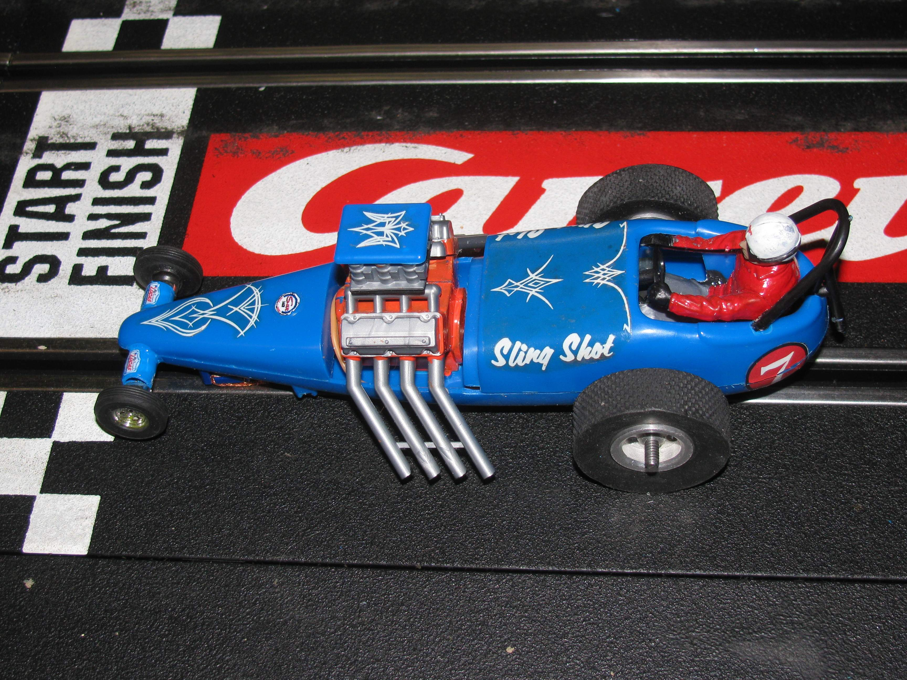 * SOLD * - Vintage Revell Monogram Sling Shot Dragster Slot Car 1/32 – 1/24 Scale - Car #7