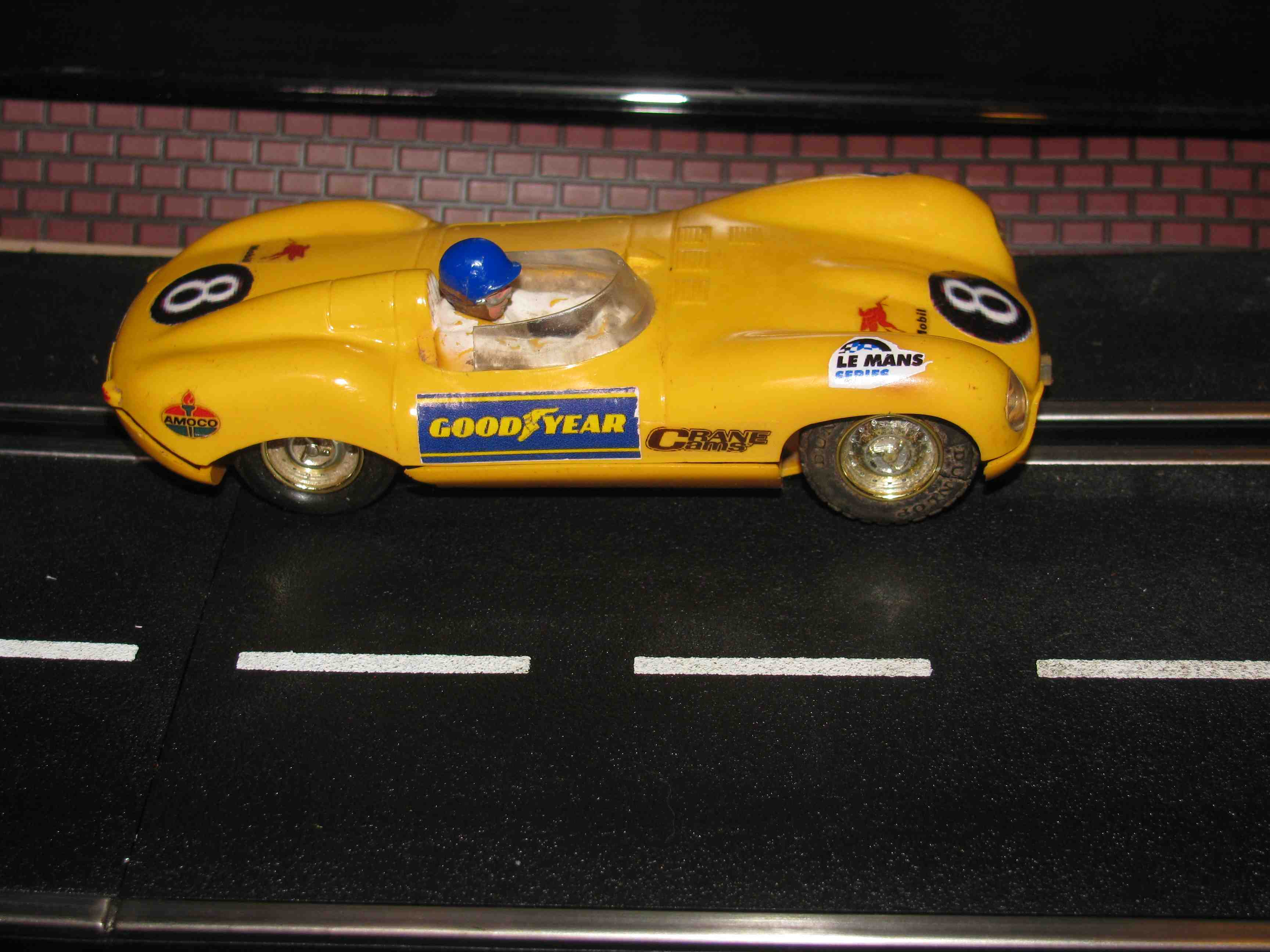 * SOLD * Very Rare and Vintage Scalextric Triang Jaguar E-Type Slot Car 1/32 Scale