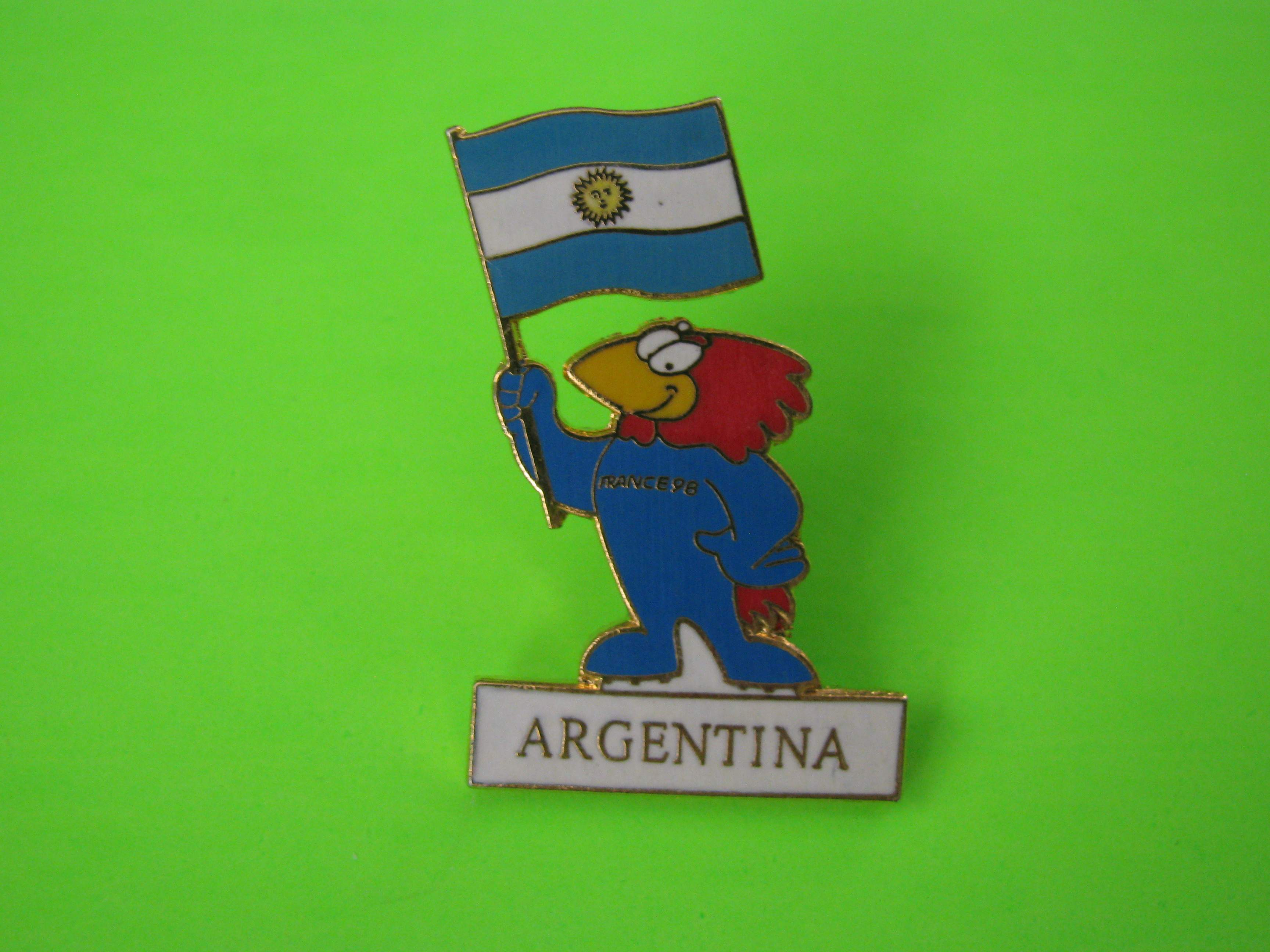 France 1998 Argentina Soccer Team Pin with Butterfly Clutch, 1995 (1SL)