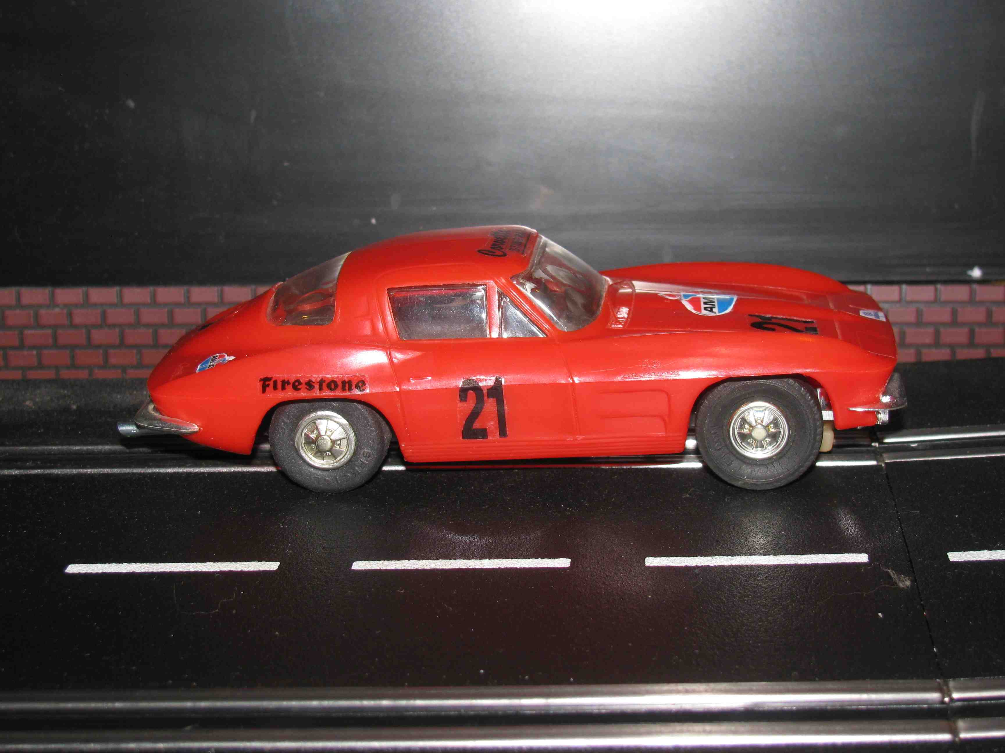 *SOLD* Vintage Eldon Corvette Slot Car 1/32 Scale – Red – Car 21