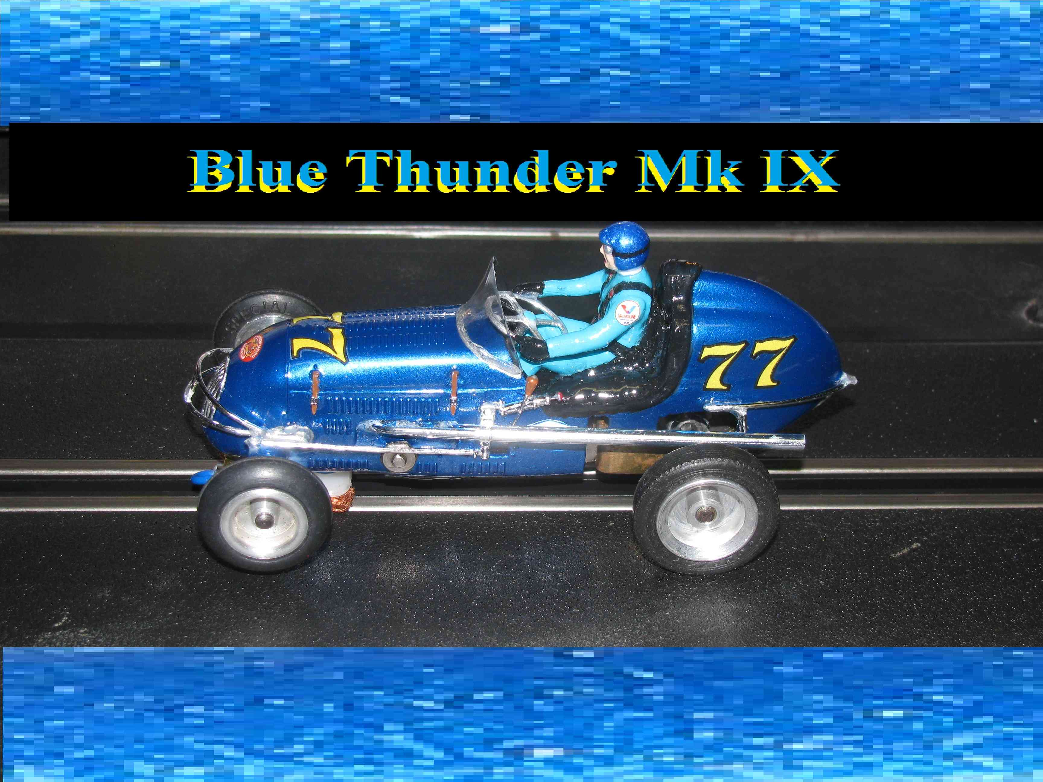 *SOLD* * Custom order for Charles E. ONLY $299 * *SALE $349.99, Reg, $449.99, SAVE $100* Revell Midget Racer Blue Thunder Mk IX Racing Special 1:32 Scale