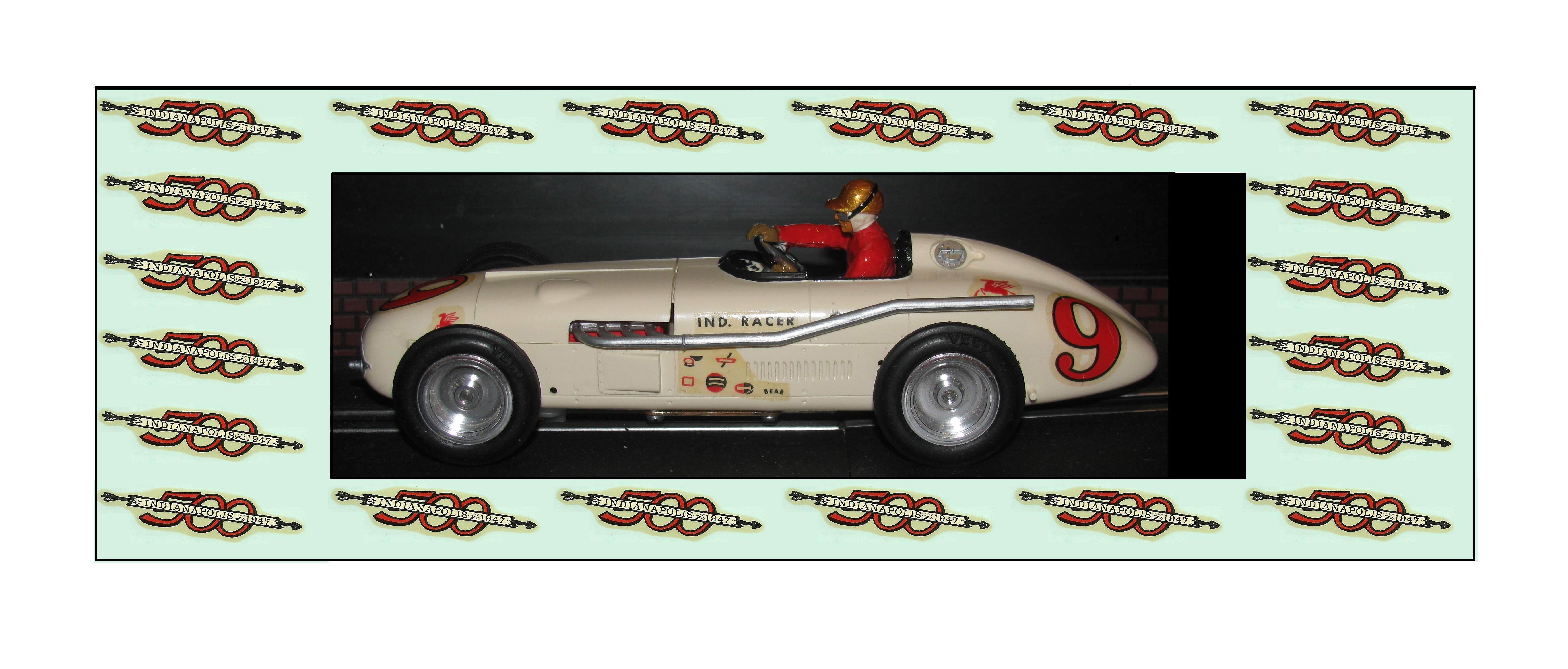 "* SOLD * Vintage Monogram Indy 500 Racer ""Racing Special"" Slot Car – Car 9"