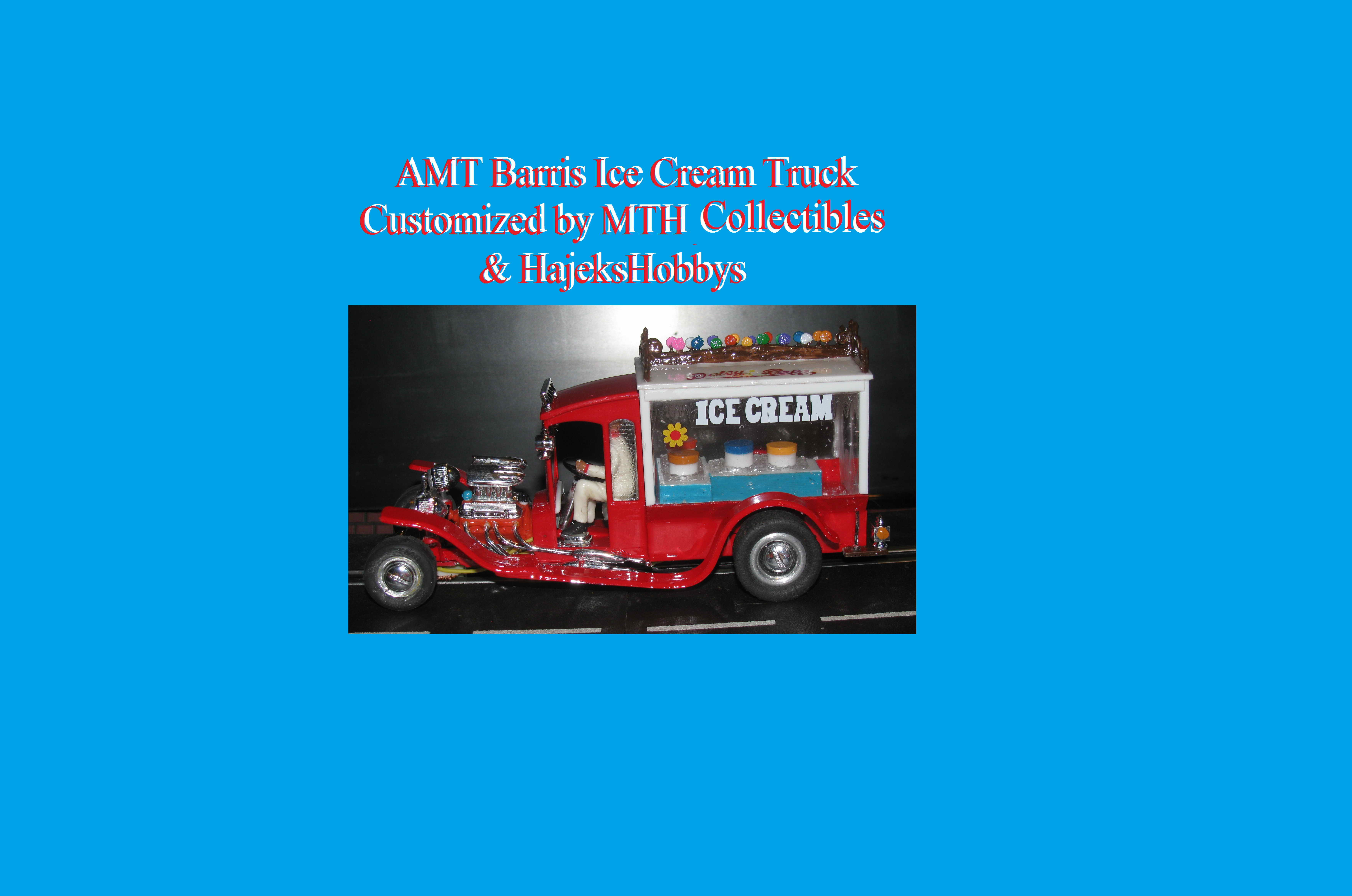 *SOLD* *SALE, Normally $499 SAVE $150* Vintage AMT Barris Ice Cream Truck Slot Car in 1/24 Scale