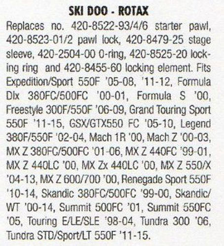 Ski Doo Recoil assm 2000-2015