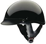 Gloss Black DOT Shorty Helmet