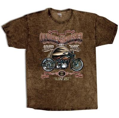 Ol' Bikes & Whiskey Sand Brown T-Shirt