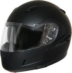 Matt Black DOT Flip-Up Full Face Helmet Retractable Sun Visor