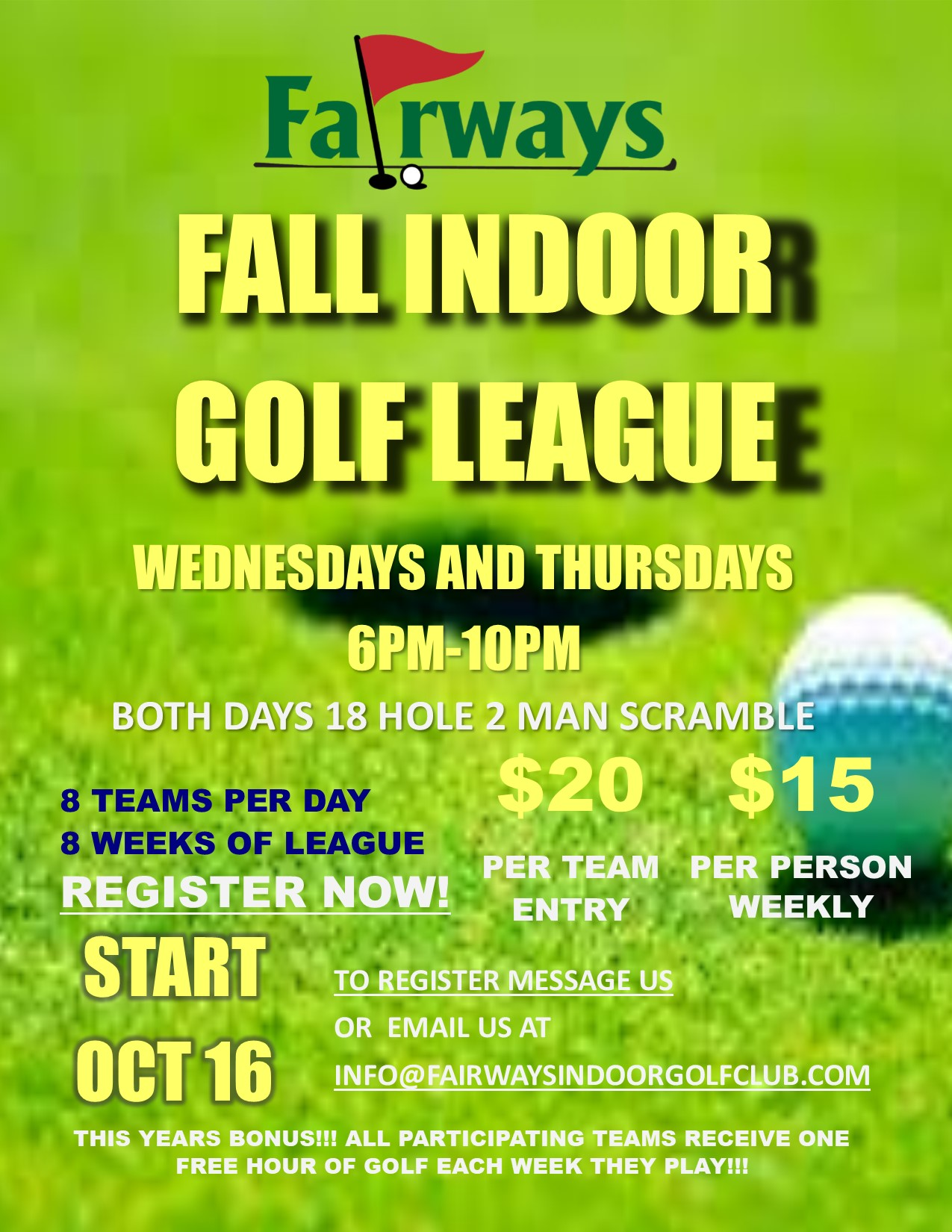 Fall Golf League Registration