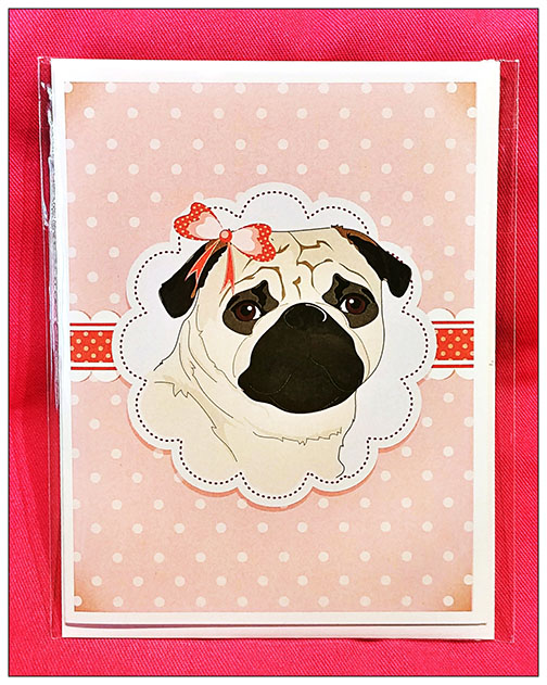 Notecard: Vintage Pug