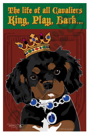 Print: Cavalier: King, Play, Bark