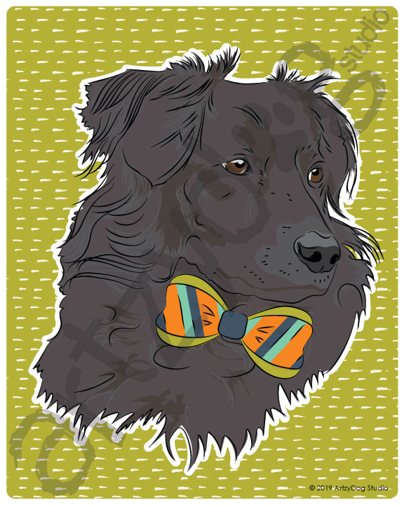 Print: #Doggust: Border Collie
