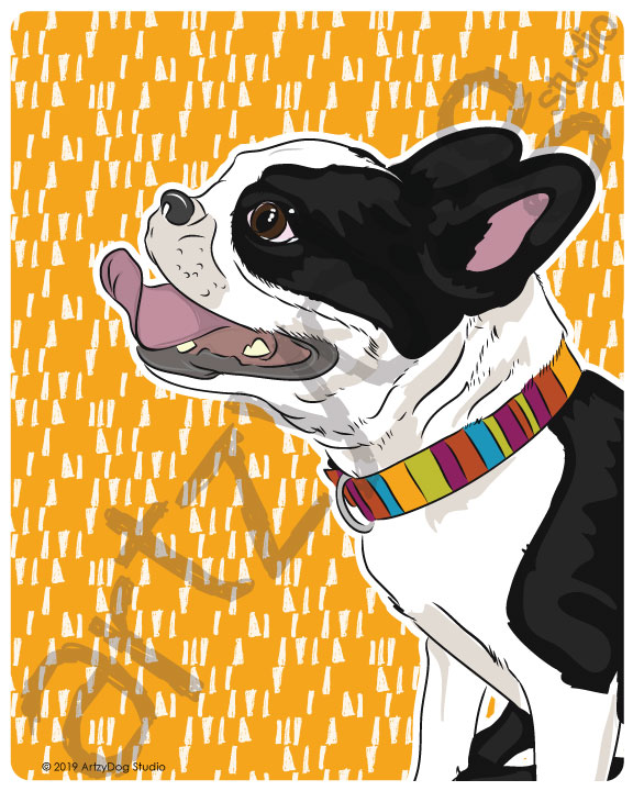 Print: #Doggust: Boston Terrier