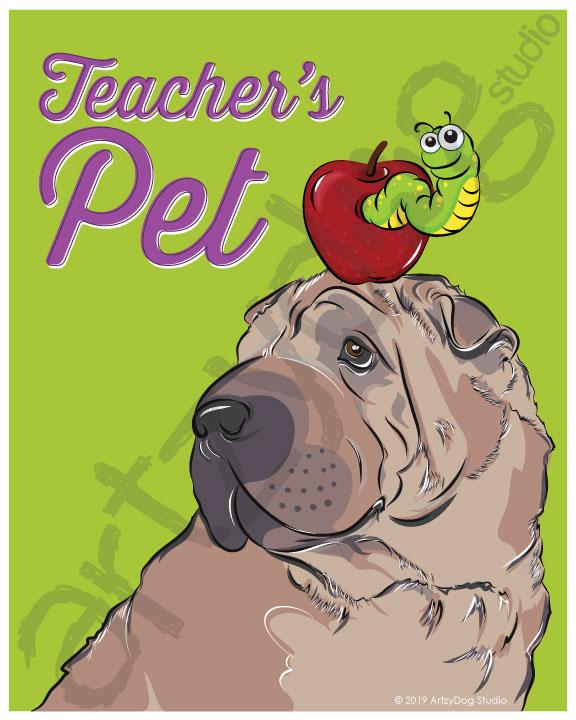 Print: #Doggust: Shar Pei
