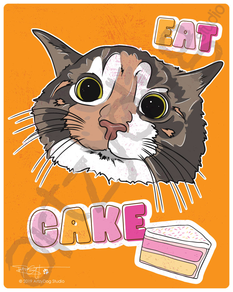 Print: Eat Cake Cat