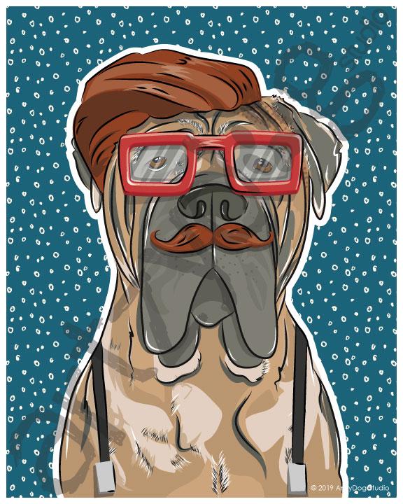 Print: #Doggust: Mastiff